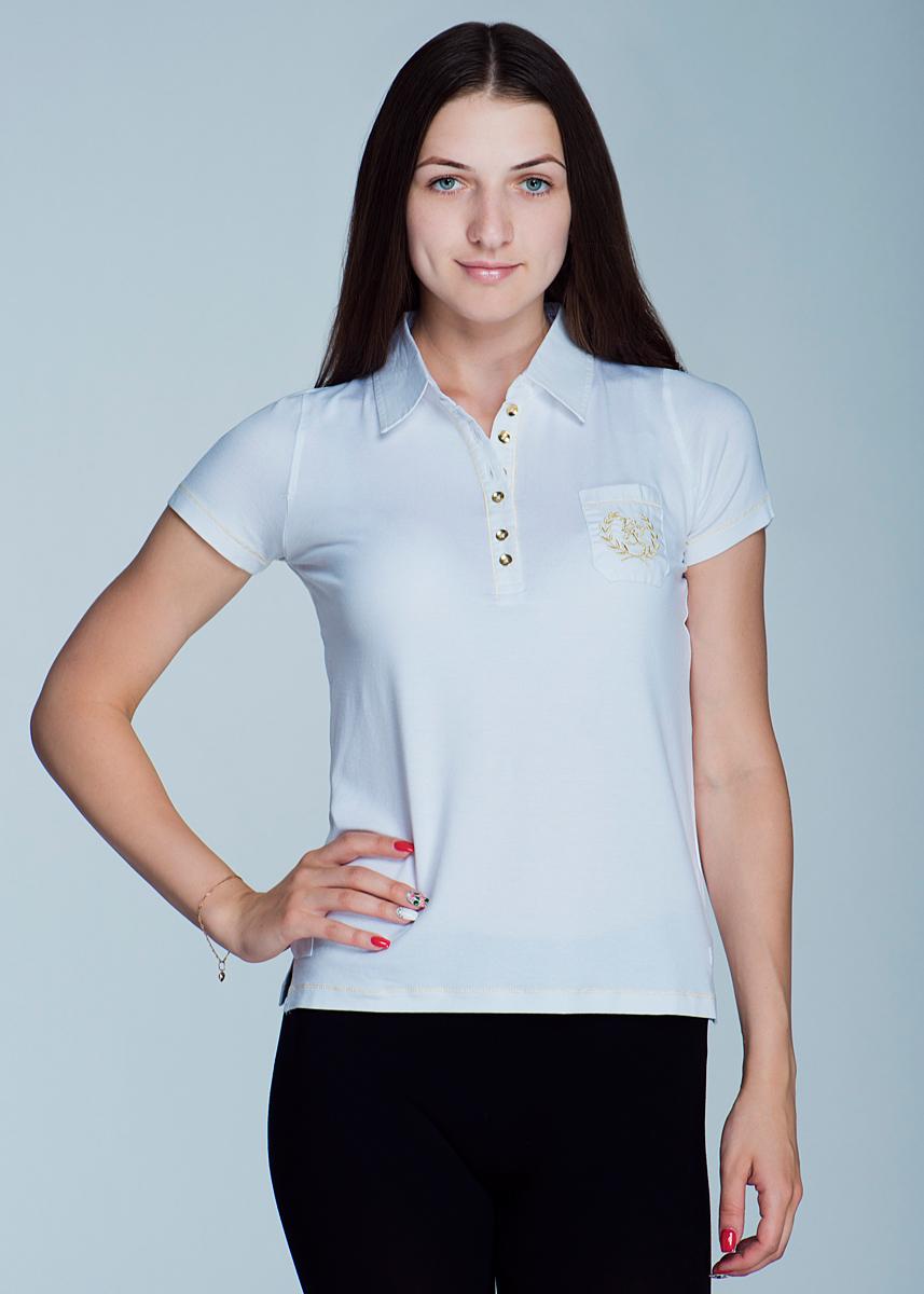 Поло2464Т12Великолепная женская футболка-поло Viriato с короткими рукавами, изготовленная из эластичной вискозы с добавлением хлопка, необычайно мягкая и приятная на ощупь, не сковывает движения, обеспечивая наибольший комфорт. Модель свободного кроя дополнена отложным воротником-поло и небольшой застежкой на пуговицы. На груди она дополнена небольшим накладным кармашком, оформленным вышивкой с логотипом бренда. Эта футболка-поло очень женственна и элегантна, дополнит любой ваш образ.