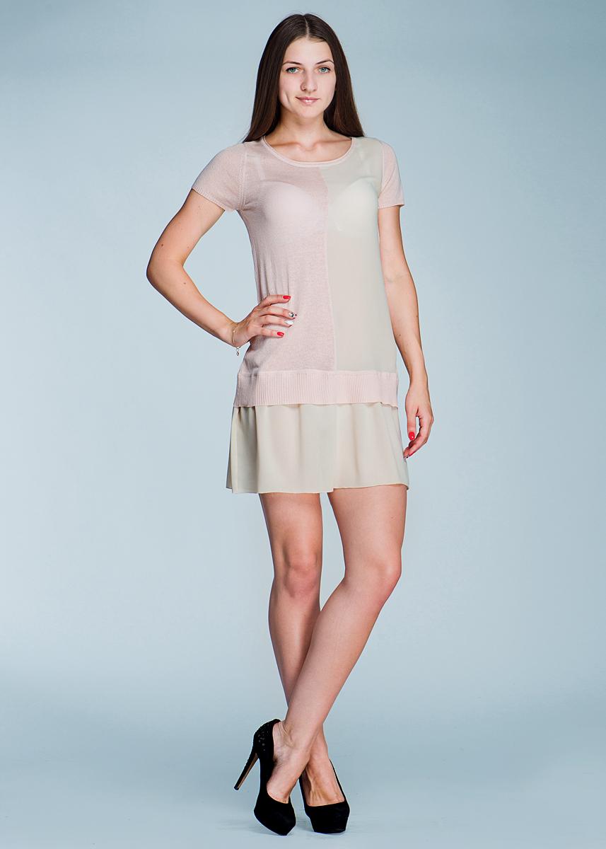 Платье2462V00Эффектное платье Viriato, изготовленное струящегося материала, яркое и свободное, подарит вам нотку радости и ощущение легкости. Модель с круглым вырезом горловины и короткими рукавами, идеально подойдет для теплой погоды. В этом роскошном платье вы всегда будете в центре внимания.