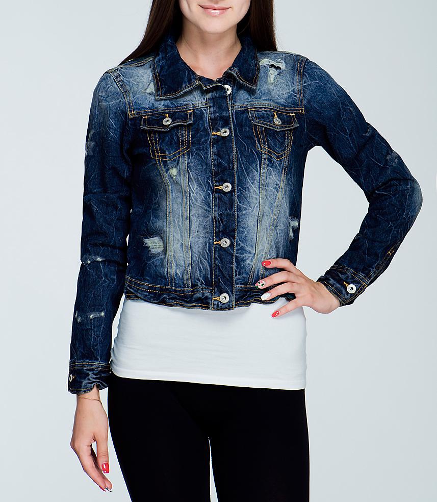Куртка джинсовая женская. 3521291.00.713521291.00.71_6013Стильная джинсовая куртка TOM TAILOR - отличный вариант для прохладной погоды. Модель с отложным воротником и длинными рукавами застегивается на металлические пуговицы с логотипом бренда. На груди изделие оформлено двумя кармашками с клапанами на пуговицах. Рукава понизу дополнены манжетами, застегивающимися на пуговицы. Куртка декорирована потертостями. Эта куртка - практичная вещь, которая, несомненно, впишется в ваш гардероб, в ней вы будете чувствовать себя уютно и комфортно.
