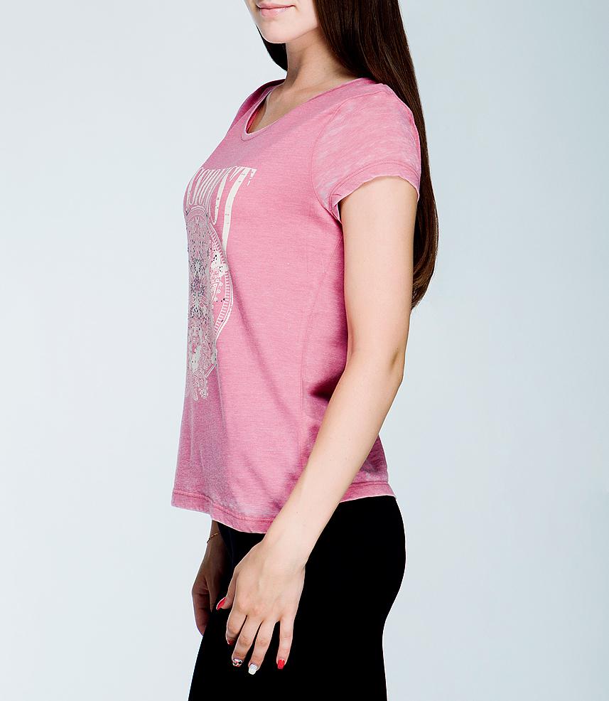 Футболка1027679.00.70_5281Стильная женская футболка TOM TAILOR, выполненная из высококачественного хлопкового материала, обладает высокой теплопроводностью, воздухопроницаемостью и гигроскопичностью, позволяет коже дышать. Модель с короткими рукавами и круглым вырезом горловины - идеальный вариант для создания образа в стиле Casual. Спереди футболка оформлена принтом с изображением бабочек, декорированным стразами, и надписью «Passionist». Такая модель будет дарить вам комфорт в течение всего дня и послужит замечательным дополнением к вашему гардеробу.