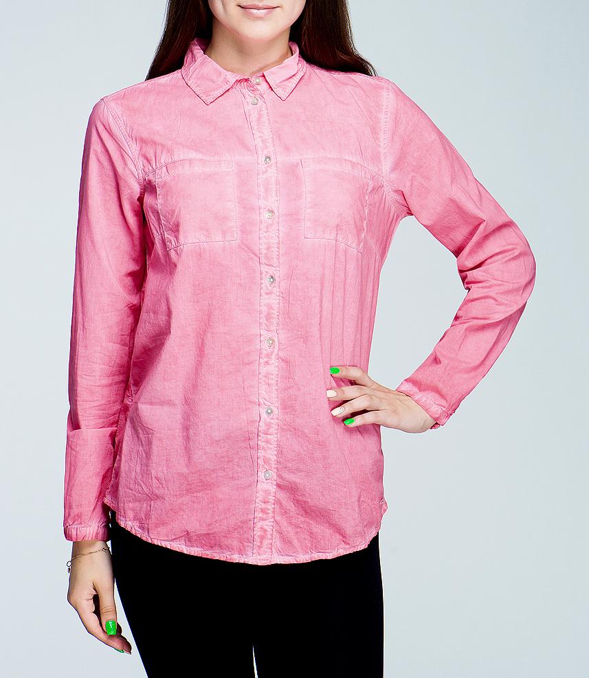 Рубашка женская. 2019368.00.702019368.00.70_5281Стильная женская рубашка TOM TAILOR, выполненная из высококачественного материала, - находка для современной женщины, желающей выглядеть стильно и модно. Модель прямого свободного кроя, с полукруглым низом, длинными рукавами, отложным воротником застегивается на пуговицы. На груди рубашка дополнена двумя накладными карманами. Такая модель, несомненно, вам понравится и послужит отличным дополнением к вашему гардеробу.