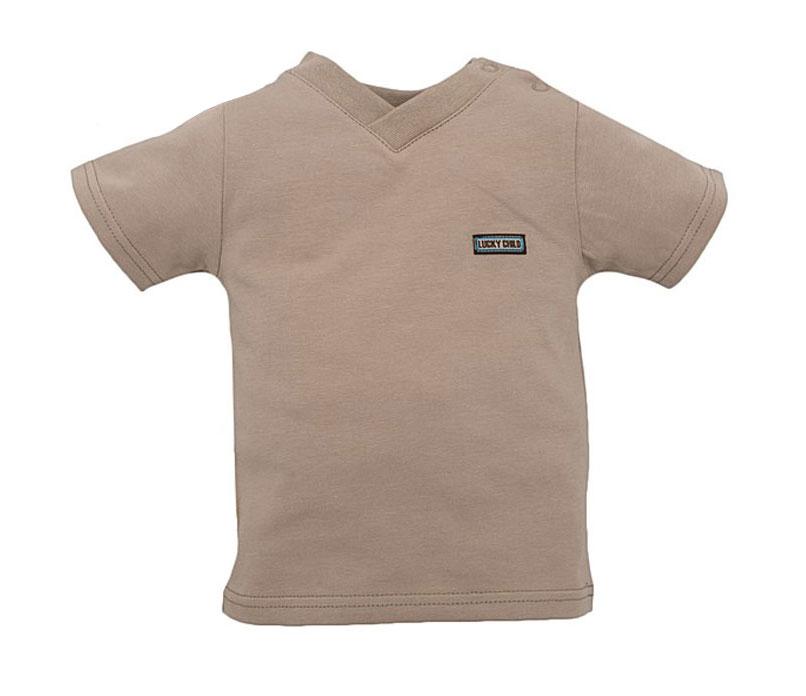 13-26.2Детская футболка Lucky Child послужит идеальным дополнением к гардеробу вашего малыша, обеспечивая ему наибольший комфорт. Изготовленная из натурального хлопка, она необычайно мягкая и легкая, не раздражает нежную кожу ребенка и хорошо вентилируется, а эластичные швы приятны телу малыша и не препятствуют его движениям. Футболка с короткими рукавами имеет V-образный врез горловины. На груди с левой стороны она дополнена небольшой нашивкой в виде логотипа бренда. Футболка полностью соответствует особенностям жизни ребенка в ранний период, не стесняя и не ограничивая его в движениях!