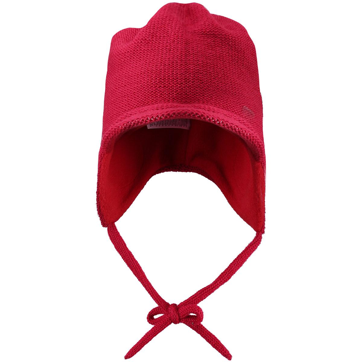 Шапка детская Baham. 518234518234_6980Комфортная детская шапка Reima Baham идеально подойдет для прогулок в холодное время года. Шапочка с ветрозащитными вставками в области ушей, выполненная из шерстяной пряжи, максимально сохраняет тепло, она мягкая и идеально прилегает к голове. Шерсть хорошо тянется и устойчива к сминанию. Мягкая подкладка выполнена из флиса, поэтому шапка хорошо сохраняет тепло и обладает отличной гигроскопичностью (не впитывает влагу, но проводит ее). Удлиненная на макушке шапка с козырьком на ушках дополнена завязками, которые фиксируются под подбородком. Оформлена модель спереди небольшой нашивкой из искусственной кожи с названием бренда. Оригинальный дизайн и яркая расцветка делают эту шапку модным и стильным предметом детского гардероба. В ней ваш ребенок будет чувствовать себя уютно и комфортно и всегда будет в центре внимания! Уважаемые клиенты! Размер, доступный для заказа, является обхватом головы ребенка.