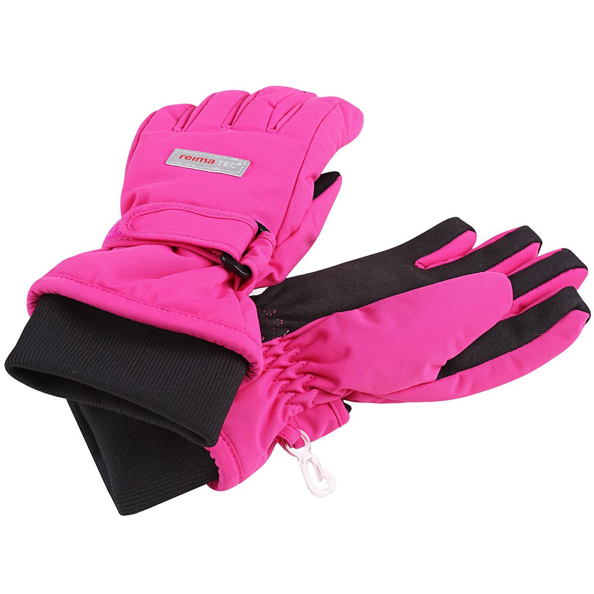 Перчатки детские. 527170527170_9990Детские перчатки Reimatec, изготовленные из мембранной ткани с водо- и ветрозащитным покрытием, станут идеальным вариантом для холодной зимней погоды. На подкладке используется мягкий флис, который хорошо удерживает тепло. Для большего удобства на запястьях перчатки дополнены эластичными трикотажными манжетами и хлястиками на липучках, а на ладошках, кончиках пальцев и с внутренней стороны большого пальца - усиленными вставками Hipora. С внешней стороны перчатки оформлены светоотражающими нашивками в виде фирменного логотипа бренда. Средняя степень утепления.