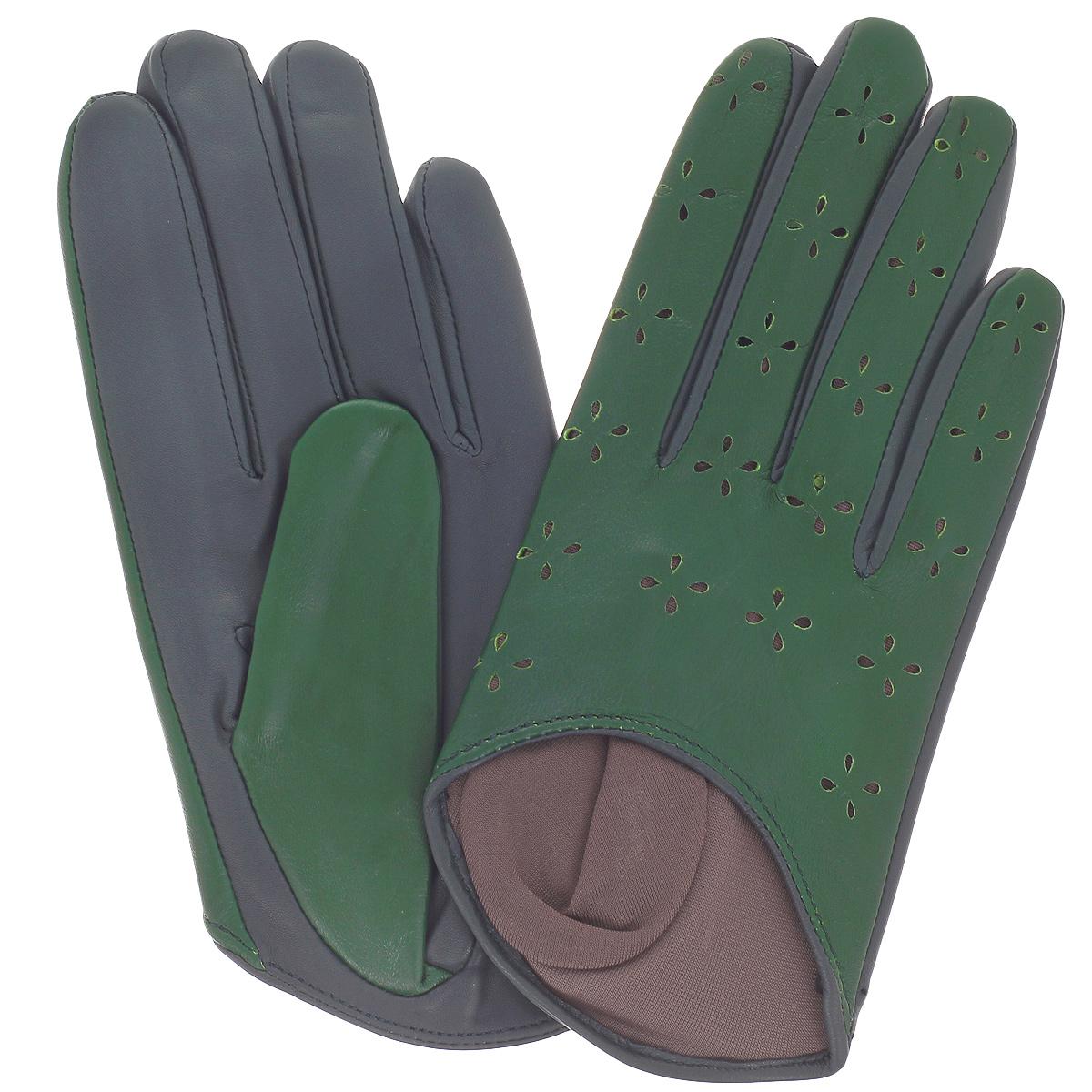 Перчатки женские. K81-H1K81-H1/ELСтильные перчатки Michel Katana с шелковой подкладкой выполнены из мягкой и приятной на ощупь натуральной кожи ягненка и оформлены декоративной перфорацией. Перчатки станут достойным элементом вашего стиля и сохранят тепло ваших рук. Это не просто модный аксессуар, но и уникальный авторский стиль, наполненный духом севера Франции.