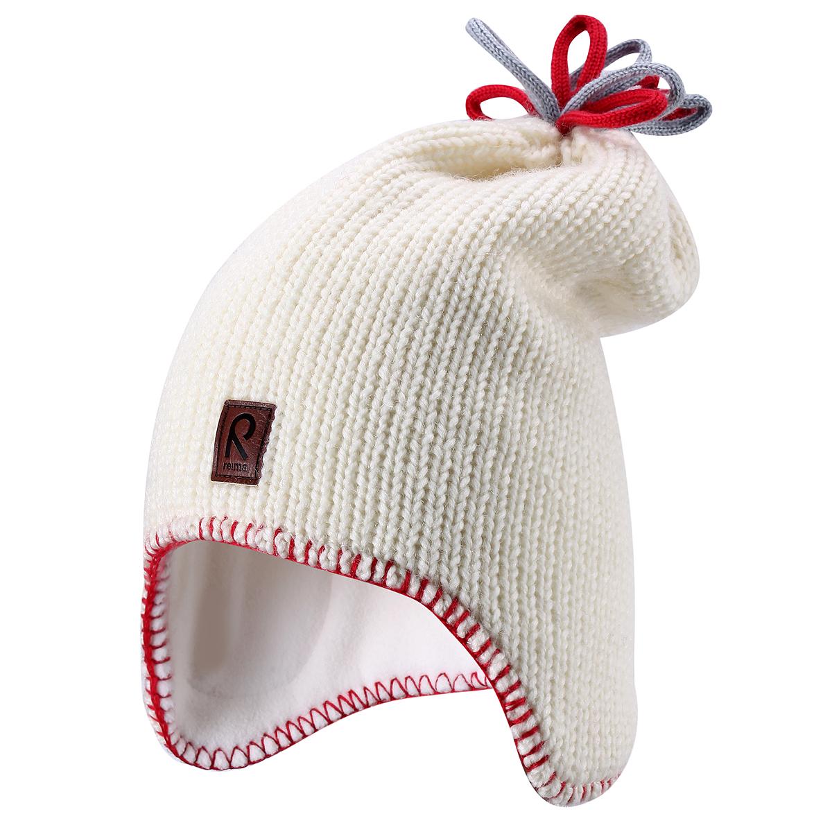 Шапка детская Lodestar. 528327528327_7890Комфортная детская шапка Reima Lodestar идеально подойдет для прогулок в холодное время года. Вязаная шапка с ветрозащитными вставками в области ушей, выполненная из шерстяной пряжи, максимально сохраняет тепло, она мягкая и идеально прилегает к голове. Шерсть хорошо тянется и устойчива к сминанию. Мягкая подкладка выполнена из флиса, поэтому шапка хорошо сохраняет тепло и обладает отличной гигроскопичностью (не впитывает влагу, но проводит ее). Удлиненная шапка на макушке дополнена цветными декоративными петельками, оформлена по краю контрастной нитью и спереди небольшой нашивкой из искусственной кожи с названием бренда. Оригинальный дизайн и яркая расцветка делают эту шапку модным и стильным предметом детского гардероба. В ней ваш ребенок будет чувствовать себя уютно и комфортно и всегда будет в центре внимания! Уважаемые клиенты! Размер, доступный для заказа, является обхватом головы ребенка.