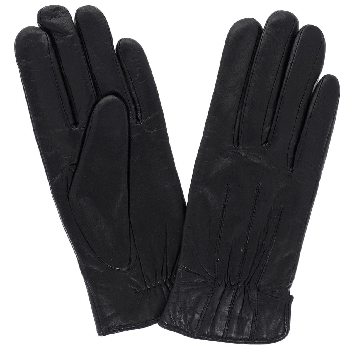 Перчатки женские. 11_HELGA11_HELGA/BLСтильные женские перчатки Dali Exclusive выполнены из мягкой и приятной на ощупь натуральной кожи ягненка с подкладкой из шерсти. Перчатки на лицевой стороне оформлены тремя швами. Манжеты имеют вставку-резинку и боковые разрезы. Такие перчатки подчеркнут ваш стиль и неповторимость.