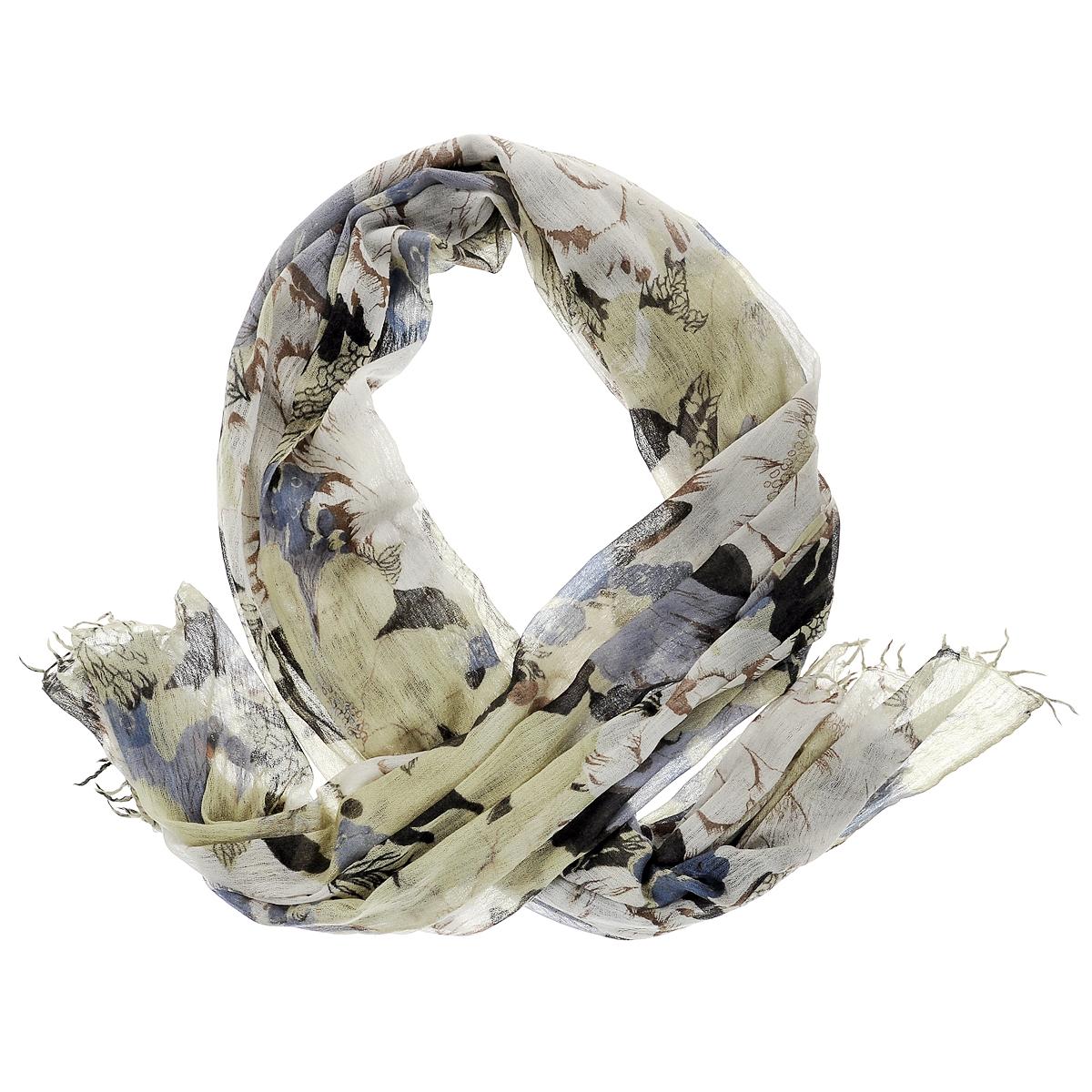Палантин. W-HIBISCUSW-HIBISCUS/BEСтильный палантин Michel Katana согреет в холодное время года, а также станет изысканным аксессуаром, который призван подчеркнуть вашу индивидуальность и стиль. Палантин выполнен из шерсти и декорирован цветочным орнаментом. По краям изделие оформлено кистями.