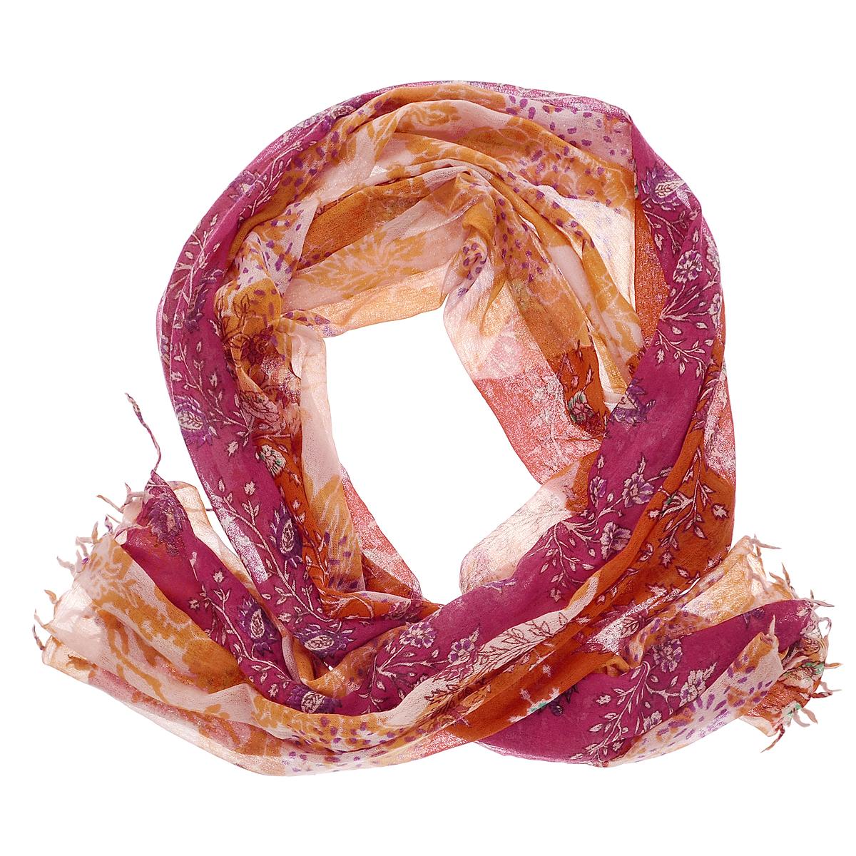 Палантин. W-TRIBALFLW-TRIBALFL/BEIGE.GRСтильный палантин Michel Katana согреет в холодное время года, а также станет изысканным аксессуаром, который призван подчеркнуть вашу индивидуальность и стиль. Палантин выполнен из шерсти и декорирован цветочным принтом. По краям изделие оформлено кисточками.