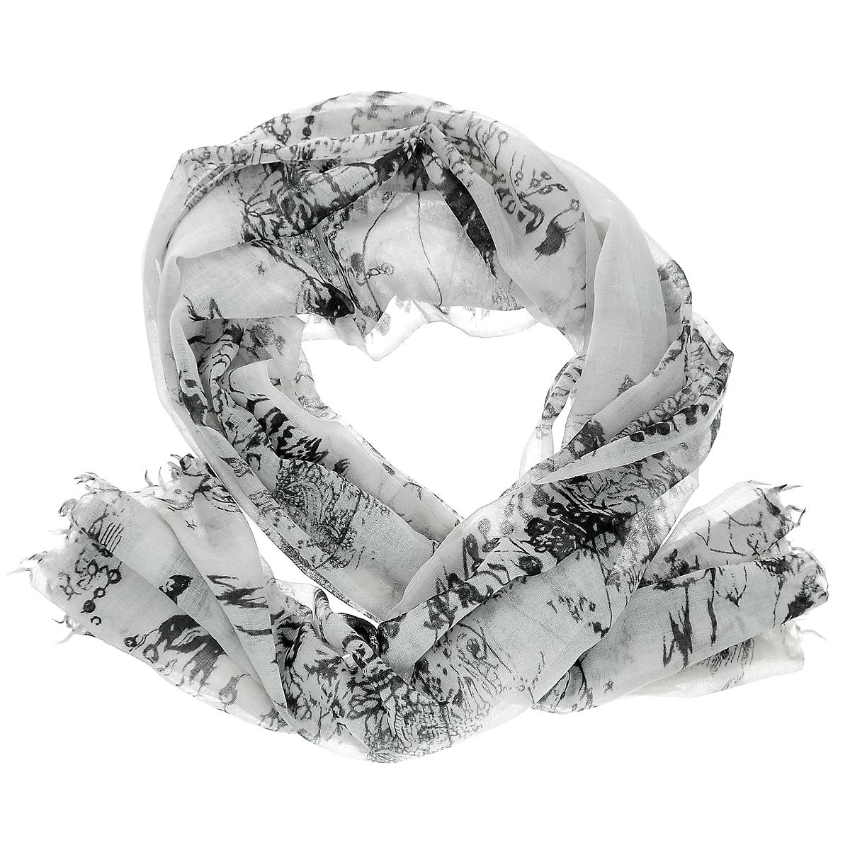 Палантин. ZW-FENEZW-FENE/BLСтильный палантин Michel Katana согреет в холодное время года, а также станет изысканным аксессуаром, который призван подчеркнуть вашу индивидуальность и стиль. Палантин выполнен из шерсти и декорирован оригинальным орнаментом. По краям изделие оформлено кисточками.