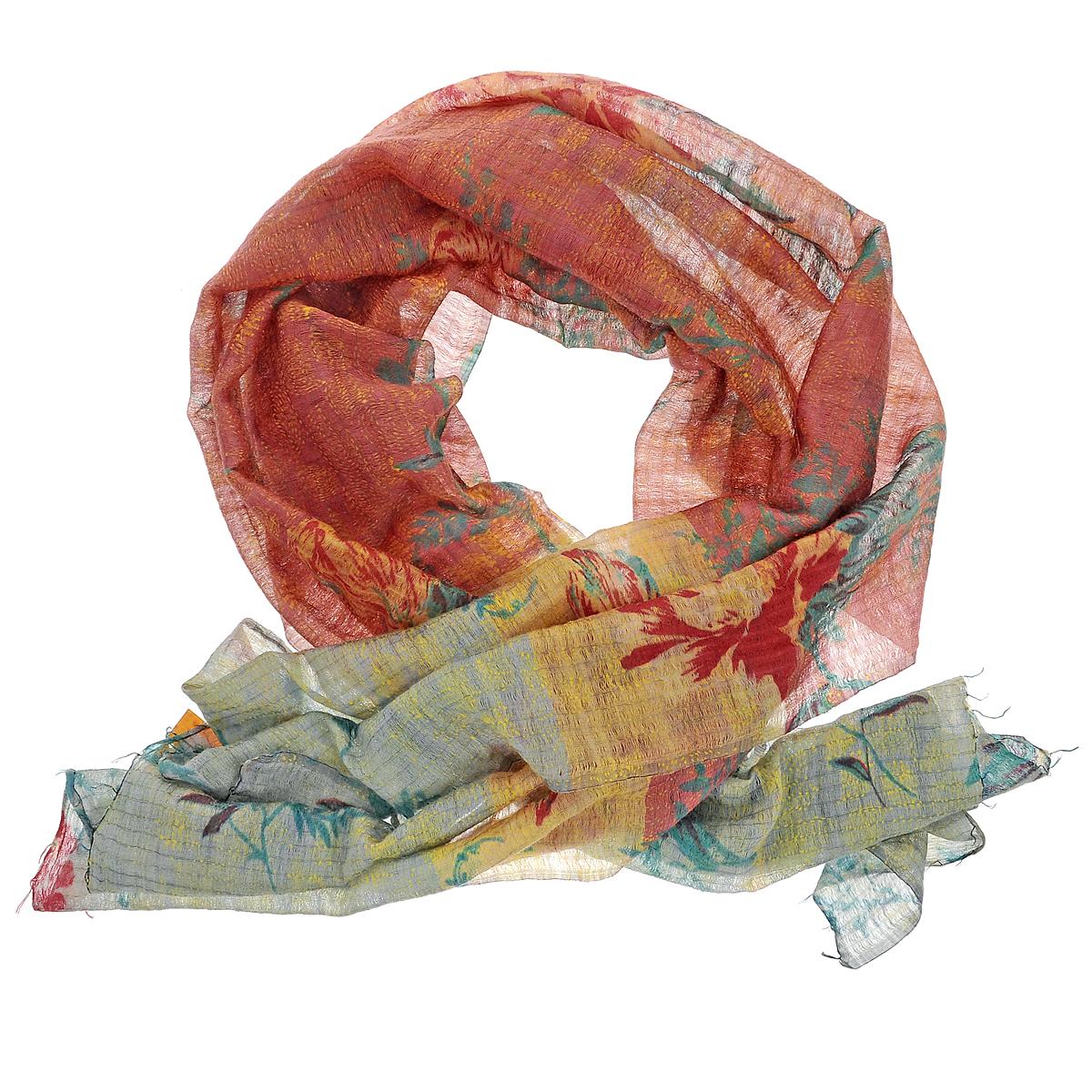 ПалантинSW-KANTHA/PINKСтильный палантин Michel Katana согреет в холодное время года, а также станет изысканным аксессуаром, который призван подчеркнуть вашу индивидуальность и стиль. Палантин выполнен из шерсти с добавлением шелка и декорирован цветочным орнаментом. По краям изделие оформлено кисточками.