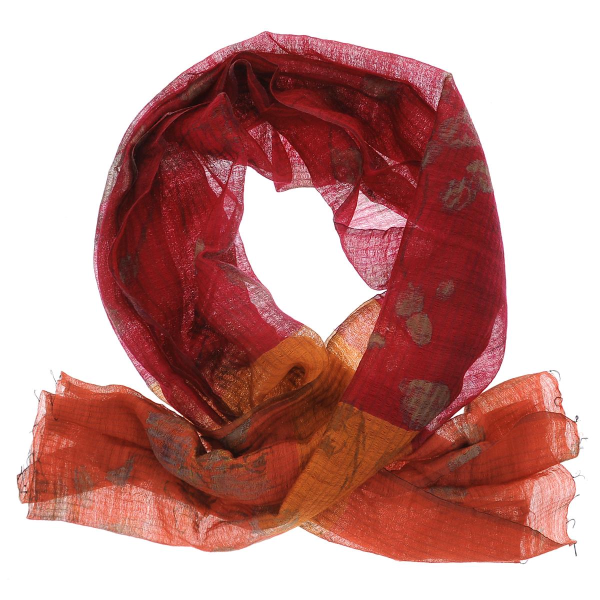 Палантин. SW-ORCHIDSW-ORCHID/BLUE.GRСтильный палантин Michel Katana согреет в холодное время года, а также станет изысканным аксессуаром, который призван подчеркнуть вашу индивидуальность и стиль. Палантин выполнен из шерсти с добавлением шелка и декорирован цветочным орнаментом. По краям изделие оформлено кисточками.