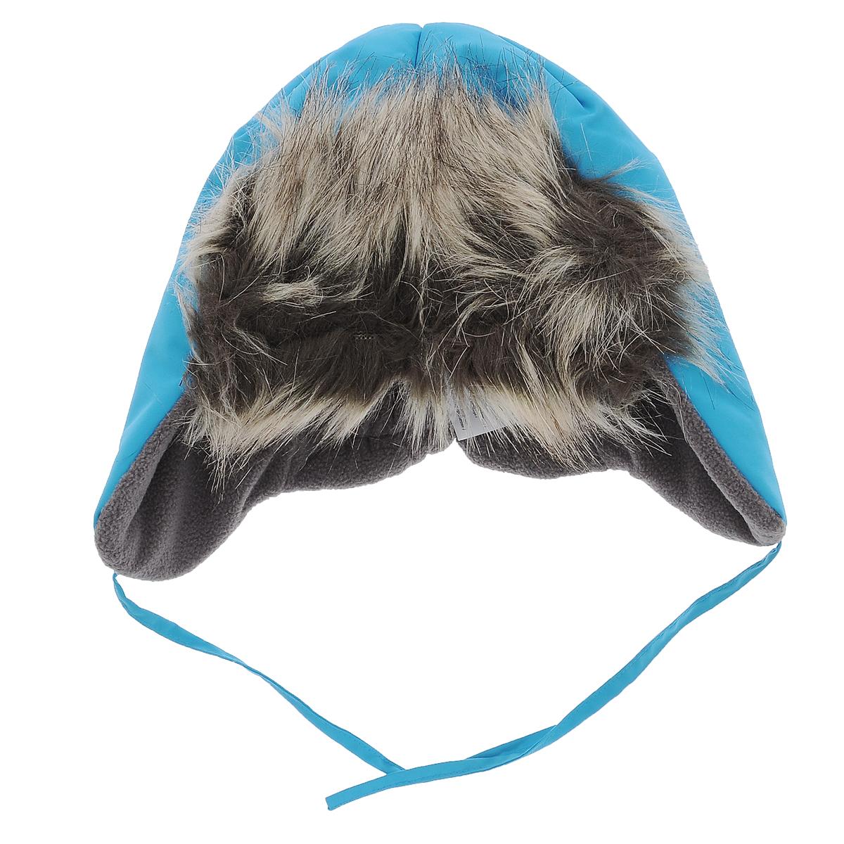 Шапка детская. 718643718643_3390Комфортная зимняя детская шапка-ушанка Lassie идеально подойдет для прогулок в холодное время года, защищая ушки и лоб ребенка от ветра. Шапка, выполненная из современной ветрозащитной ткани со специальной обработкой, отталкивающей грязь и влагу, с наполнителем из синтепона. Благодаря специальной дышащей обработке влага выводится на внешнюю поверхность, что обуславливает комфортность изделия. Мягкая подкладка из флиса хорошо сохраняет тепло и обладает отличной гигроскопичностью (не впитывает влагу, но проводит ее). Козырек изготовлен из искусственного меха. На ушках имеются завязки, позволяющие зафиксировать шапку под подбородком. На затылке изделие стянуто на эластичные резинки для лучшего прилегания к голове и дополнено светоотражающим элементом. Оригинальный дизайн и яркая расцветка делают эту шапку модным и стильным предметом детского гардероба. В ней ваш ребенок будет чувствовать себя уютно и комфортно и всегда будет в центре внимания! ...