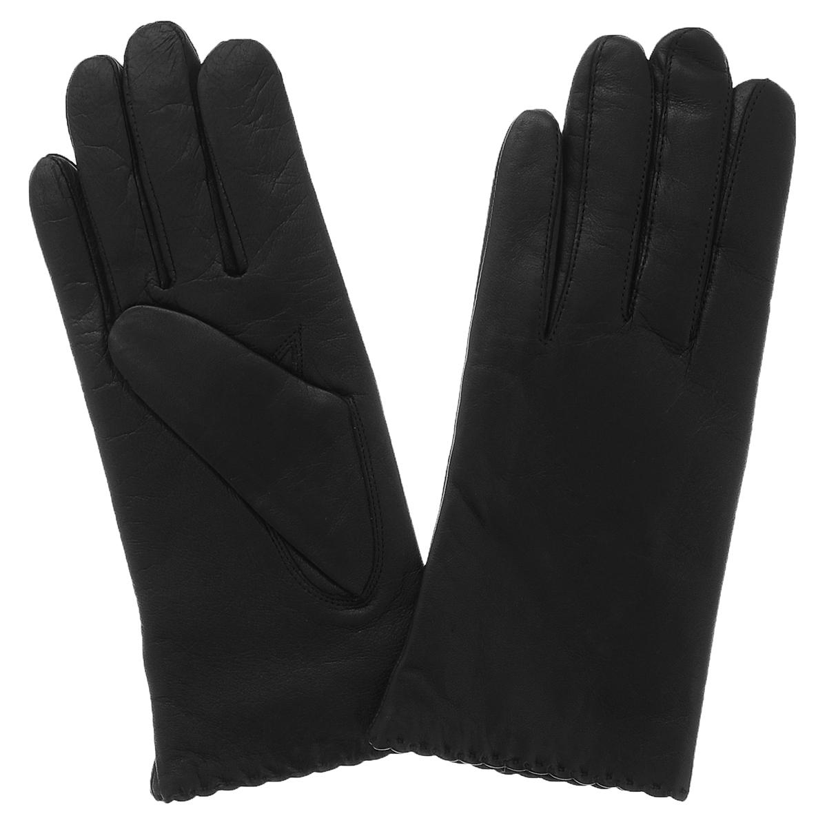 Перчатки женские. 13_SELA - Dali Exclusive13_SELA/BL/11Стильные перчатки Dali Exclusive с подкладкой из шерсти выполнены из мягкой и приятной на ощупь натуральной кожи ягненка. Край манжета оформлен стежками, выполненными вручную. Такие перчатки подчеркнут ваш стиль и неповторимость и придадут всему образу нотки женственности и элегантности.