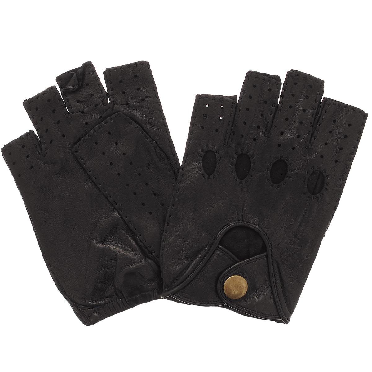 Перчатки без пальцев. ALG0.5ALG0.5/BLСтильные автомобильные перчатки Dali Exclusive выполнены из мягкой и приятной на ощупь натуральной кожи ягненка. Модель с открытыми пальцами. Перчатки оформлены декоративной перфорацией и стежками, застегиваются на кнопку. Такие перчатки подчеркнут ваш стиль и неповторимость.