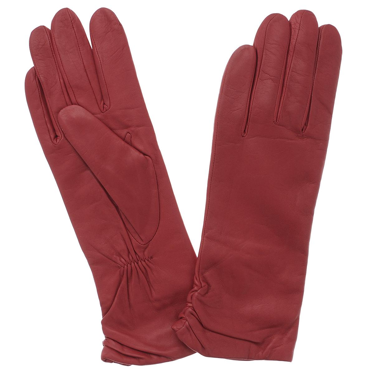 Перчатки11_ASTRA/BLUEСтильные удлиненные перчатки Dali Exclusive с подкладкой из шерсти выполнены из мягкой и приятной на ощупь натуральной кожи ягненка. Манжеты по боковому шву собраны на резинку. Такие перчатки подчеркнут ваш стиль и неповторимость и придадут всему образу нотки женственности и элегантности.