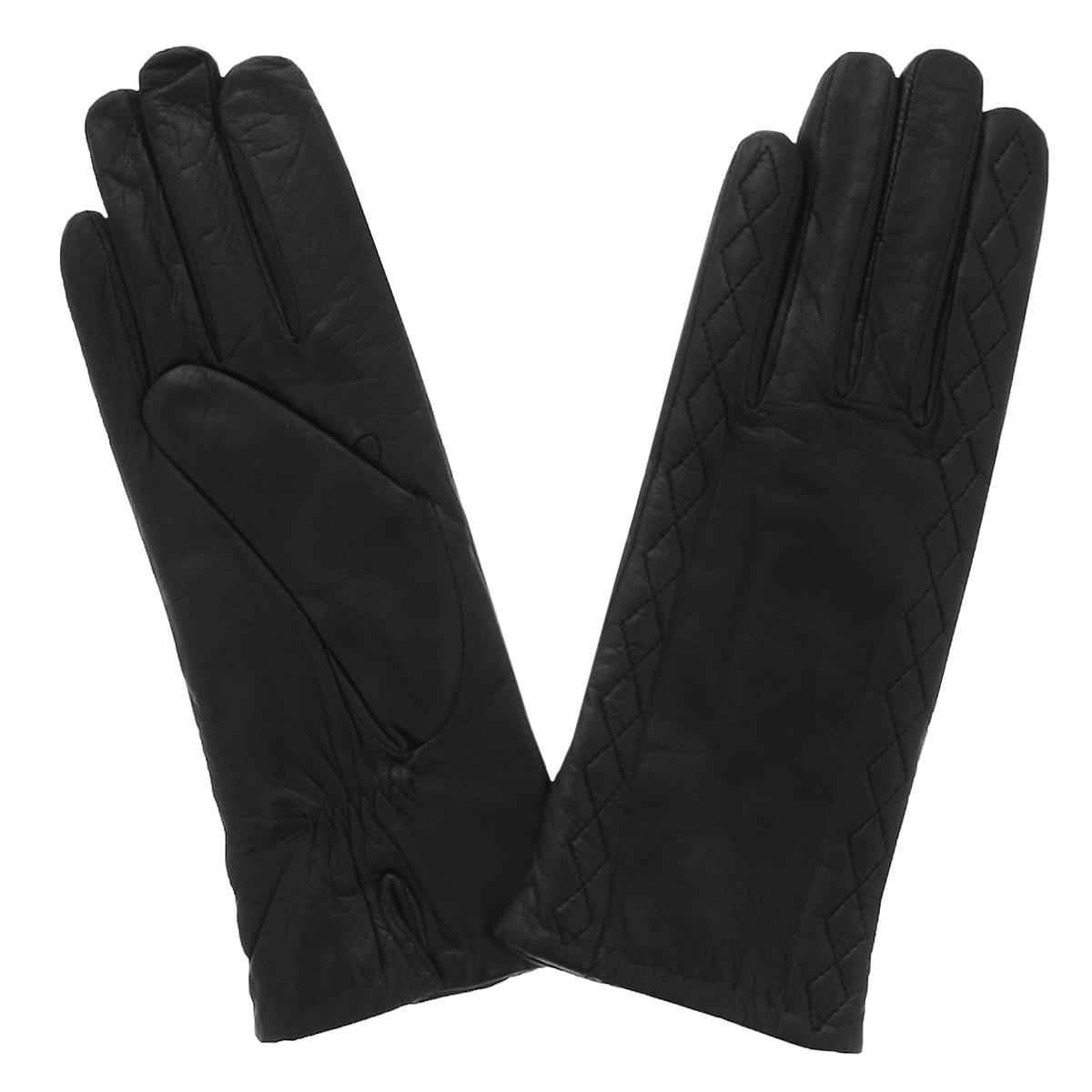 Перчатки женские. 11_MIZE11_MIZE/BLСтильные перчатки Dali Exclusive с шерстяной подкладкой выполнены из мягкой и приятной на ощупь натуральной кожи ягненка. Перчатки оформлены декоративной отстрочкой. Манжеты с небольшими разрезами и сборкой на резинку. Такие перчатки подчеркнут ваш стиль и неповторимость.