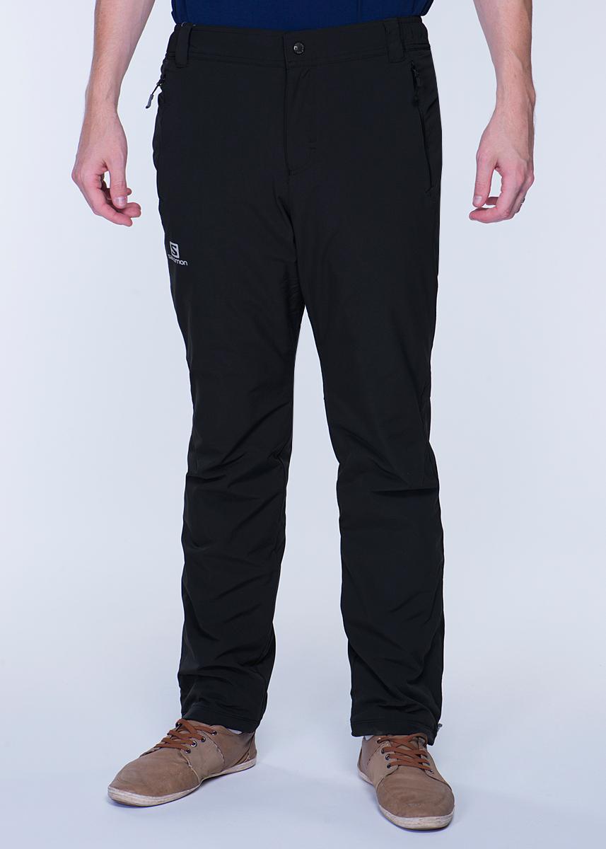 Брюки утепленныеL35178600Утепленные мужские брюки Salomon Nova Softshell согреют вас в холодное время года. Эластичная ткань AdvancedSkin Shield с двойным плетением лучше защищает от ветра, но при этом остается мягкой и отлично пропускает воздух. Утеплитель Advan ced Skin Warm Insulate d 40 г/м2. Брюки Softshell имеют непродуваемый слой на передней части, тогда как задняя часть сделана из теплой, эластичной ткани. Идеально подходят для тренировок на морозе, а благодаря стилю Casual и карманам на молнии их можно носить куда угодно в зимний сезон. Классический покрой Regular fit обеспечивает комфорт при носке. Модель прямого покроя имеет ширинку на застежке-молнии, на поясе застегивается на металлическую кнопку, имеются шлевки для ремня. По бокам на поясе - эластичные резинки для лучшего прилегания. Брючины по бокам снизу дополнены застежками молниями. Имеются утяжки со стопперами. Утепленные брюки - вариант для тех, кто любит ощущать комфорт при занятии спортом или просто на прогулке в...