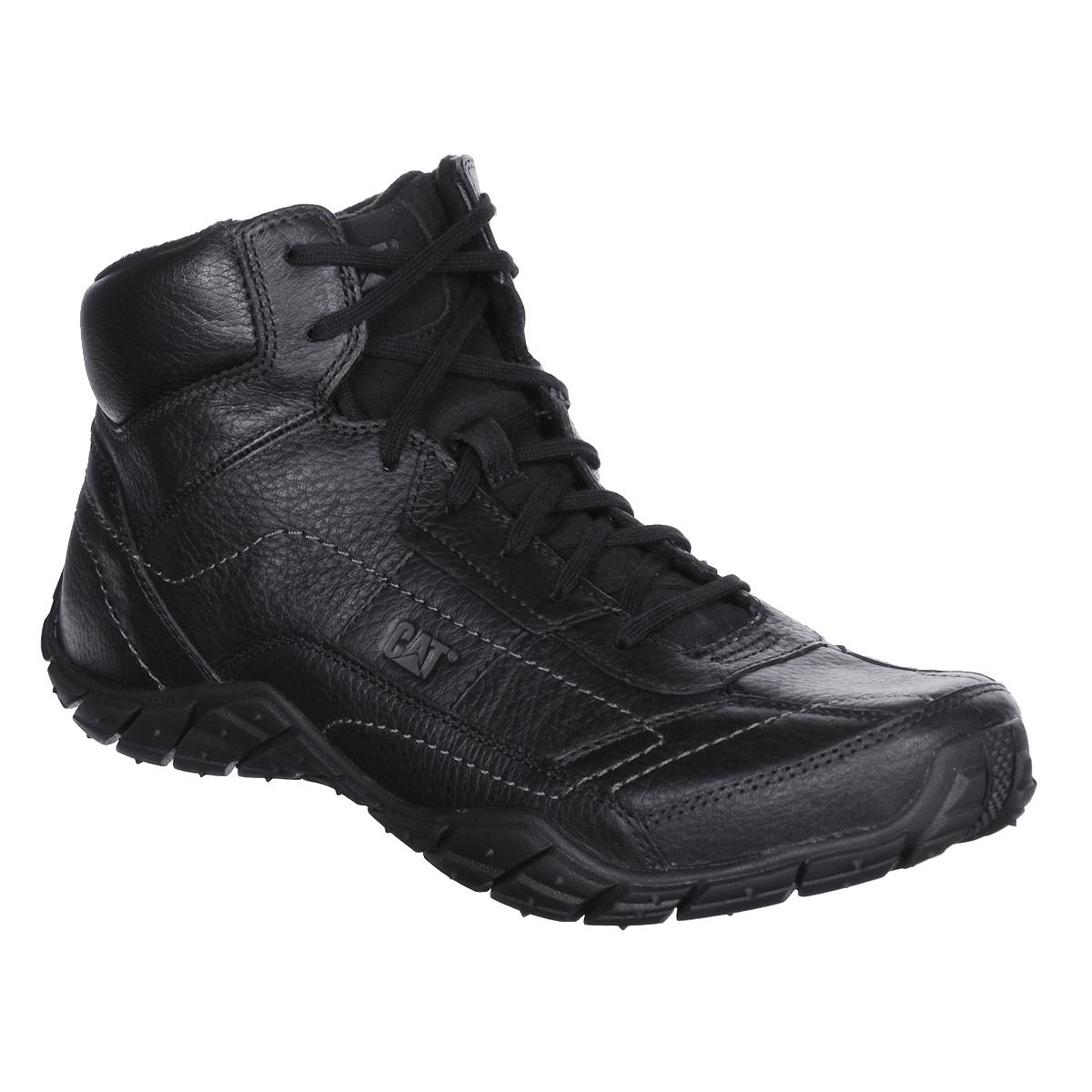 P718116Стильные мужские ботинки Prolix Mid от Caterpillar отличный вариант на каждый день. Верх выполнен из натуральной кожи со вставками из синтетической кожи. Подкладка изготовлена из мягкого флиса, позволяющего сохранять ваши ноги в тепле. Классическая шнуровка надежно фиксирует модель на ноге. Оформлено изделие прострочкой и сбоку небольшим тиснением в виде логотипа бренда. Стельки, выполненные из пластика EVA, обеспечивают комфортное положение стопы. Резиновая подошва с рифленым протектором обеспечивает хорошее сцепление с поверхностью. В таких ботинках вашим ногам будет комфортно и уютно. Они подчеркнут ваш стиль и индивидуальность.