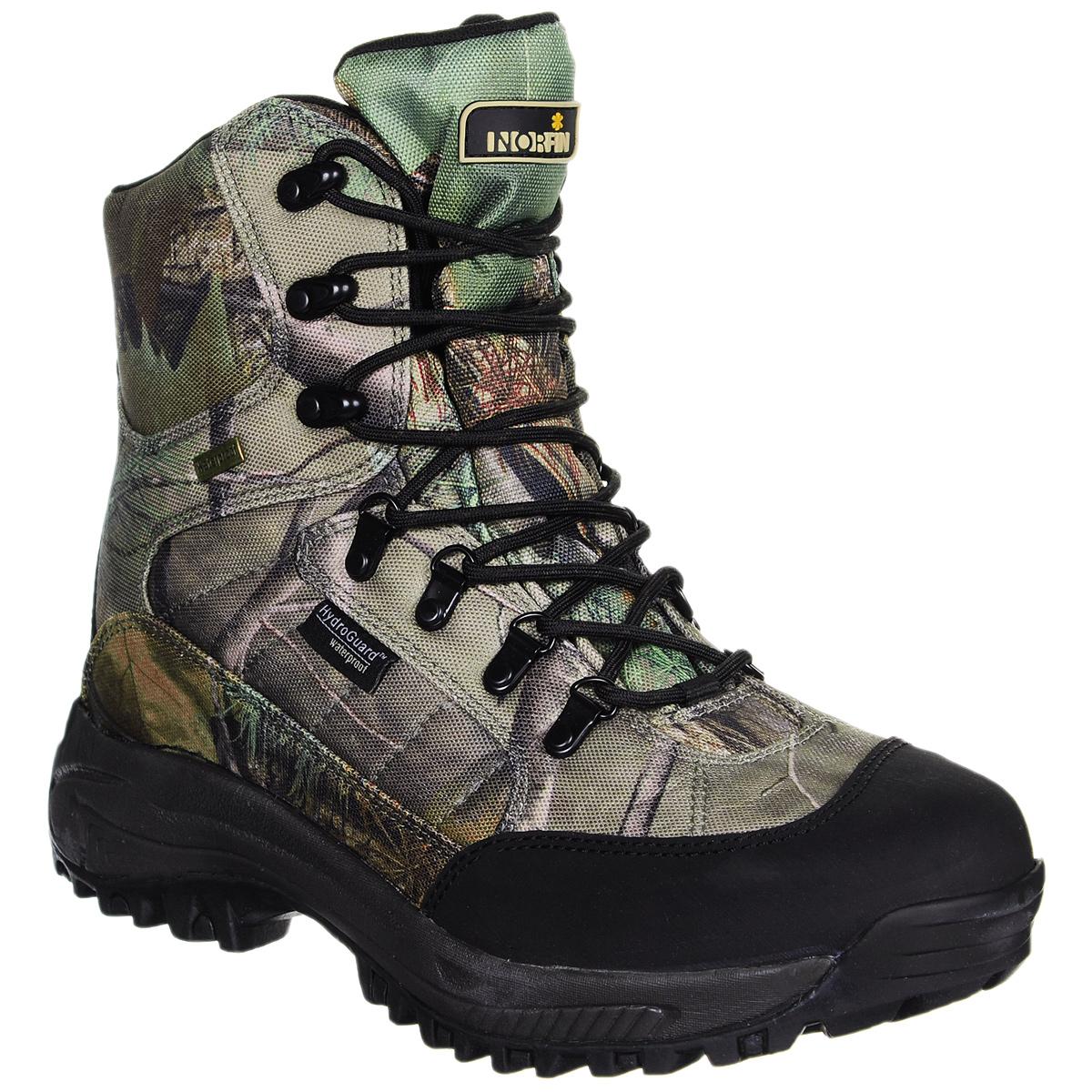 Ботинки13993Теплые и удобные мужские ботинки Norfin Ranger идеально подойдут как для рыбалки, охоты и активного отдыха, так для повседневного использования. Верх ботинок выполнен из легкого водонепроницаемого дышащего мембранного материала с камуфлированной расцветкой зеленый камыш. Подкладка изготовлена из мягкого текстильного материала, который сохранит ваши ноги в тепле. Легкий утеплитель Thinsulate и высокая подошва ботинок не дадут ногам замерзнуть ранней весной или осенью. Шнуровка надежно фиксирует модель на ноге. Оформлено изделие небольшой прорезиненной вставкой на язычке с названием бренда. Средняя часть подошвы сделана из легкого материала EVA, а нижняя часть - из резины с глубоким протектором, который обеспечит хорошее сцепление на любой поверхности. В таких ботинках вы будете чувствовать себя комфортно и уютно.