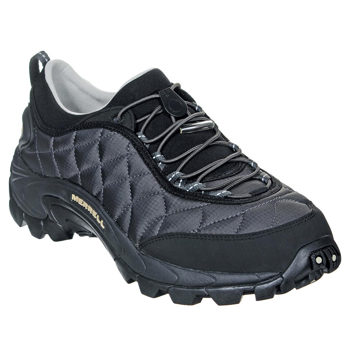 J61389Удобные трекинговые мужские кроссовки Ice Cap Moc II от Merrell прекрасно подойдут для активного отдыха. Верх модели выполнен из нейлона с водоотталкивающей пропиткой. Резиновый бампер носка защитит кроссовки при носке и продлит срок их службы. Подкладка, выполненная из мягкого флиса и текстиля, защитит ноги от холода. Эластичная шнуровка с пластиковым стоппером надежно фиксирует модель на ноге. Кроссовки оформлены оригинальной прострочкой, на заднике рельефной надписью Merrell. Промежуточная подошва выполнена из ЭВА с Air Cushion - гибкого, легкого материала обладающего отличной амортизацией, который стабилизирует и защищает от ударов стопу. Подошва из резины с рельефным протектором обеспечивает отличное сцепление на скользкой и заснеженной поверхности. Эти кроссовки оптимальный вариант для трекинга. В них вашим ногам будет комфортно и уютно.