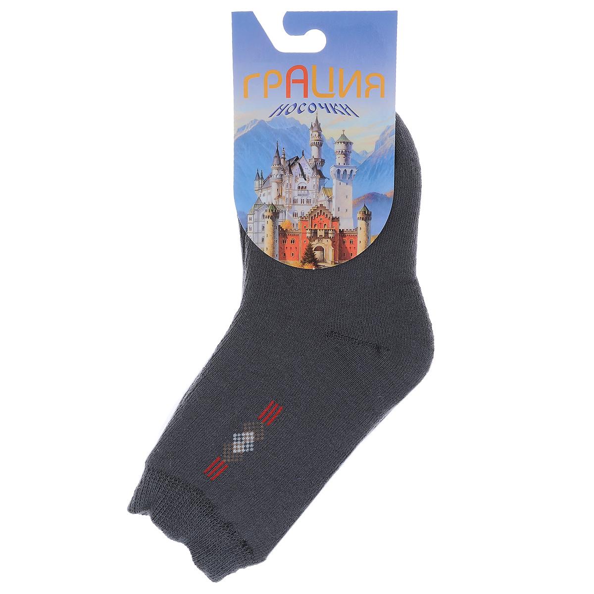 Д 2063_15Детские теплые носки Грация - прекрасный вариант для вашего ребенка. Они изготовлены из пряжи смешанного состава, очень мягкие на ощупь, не раздражают даже самую нежную и чувствительную кожу. Лицевая сторона гладкая, а изнаночная - с мягкой теплой махрой. Носки имеют эластичную резинку и плоский шов на мыске. Оформлена модель на щиколотке вязаным оригинальным рисунком. Они послужат замечательным дополнением к детскому гардеробу!