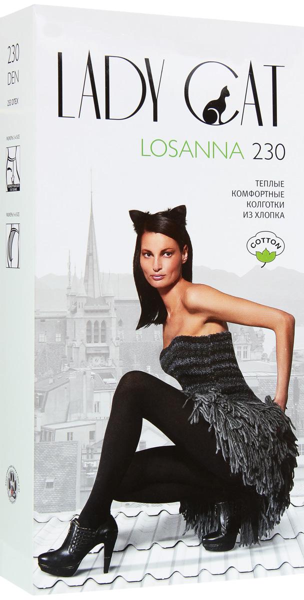 Колготки Losanna 230Losanna 230Очень теплые колготки Грация Lady Cat Losanna 230 из высококачественного хлопка с добавлением полиэстера и эластана надежно защищают от холода, прочные, прекрасно облегают ноги. Специальная термообработка и плоские швы обеспечивают дополнительный комфорт. В размерах 5 и 6 сзади имеется специальная вставка. Плотность: 230 den.