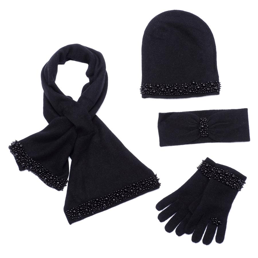 Moltini Комплект женский: шарф, шапка, перчатки, повязка. 56004