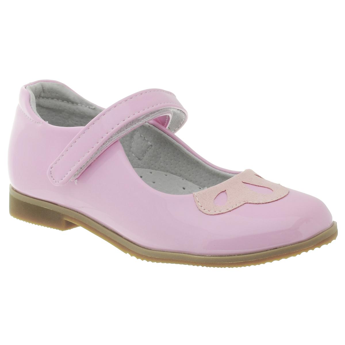 Туфли для девочки. 34223422_13Замечательные детские туфли для девочки PlayToday, оформленные изящной вставкой, - идеальный вариант на каждый день для детского сада. Подошва выполнена из гибкого, нескользящего материала, устойчивого к истиранию. Рифление обеспечивает надежное сцепление с поверхностью. Мягкая профилированная стелька с супинатором выполнена из натуральной кожи. Удобная пяточная часть укреплена жестким задником. Поддерживая стопу, мягкий кант по краю обеспечивает комфорт при ходьбе. Отделка внутри выполнена из мягкой натуральной кожи. Застежка-ремешок на липучке отлично фиксирует модель на ноге. Круглый мыс декорирован изящной вставкой. Эти туфли созданы для настоящих принцесс!