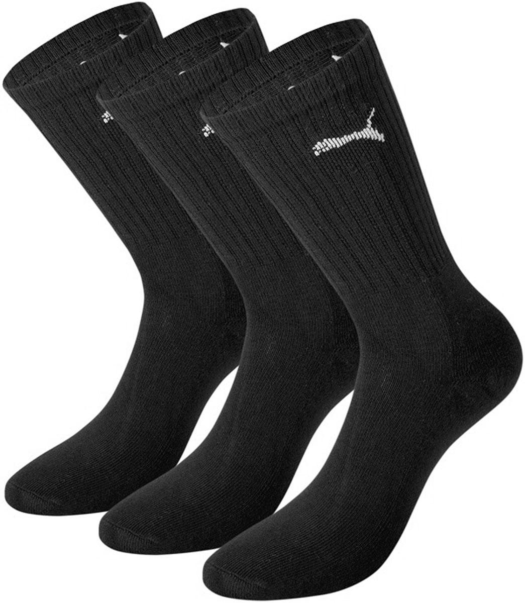 Носки мужские Sport, 3 пары. 88035588035510Спортивные носки Puma Sport изготовлены из хлопка с добавлением полиэстера и эластана. Комфортная широкая резинка не сдавливает и комфортно облегает ногу. Оформлены носки логотипом бренда. Идеальное сочетание практичности, легкости и комфорта. В комплект входят три пары носков.