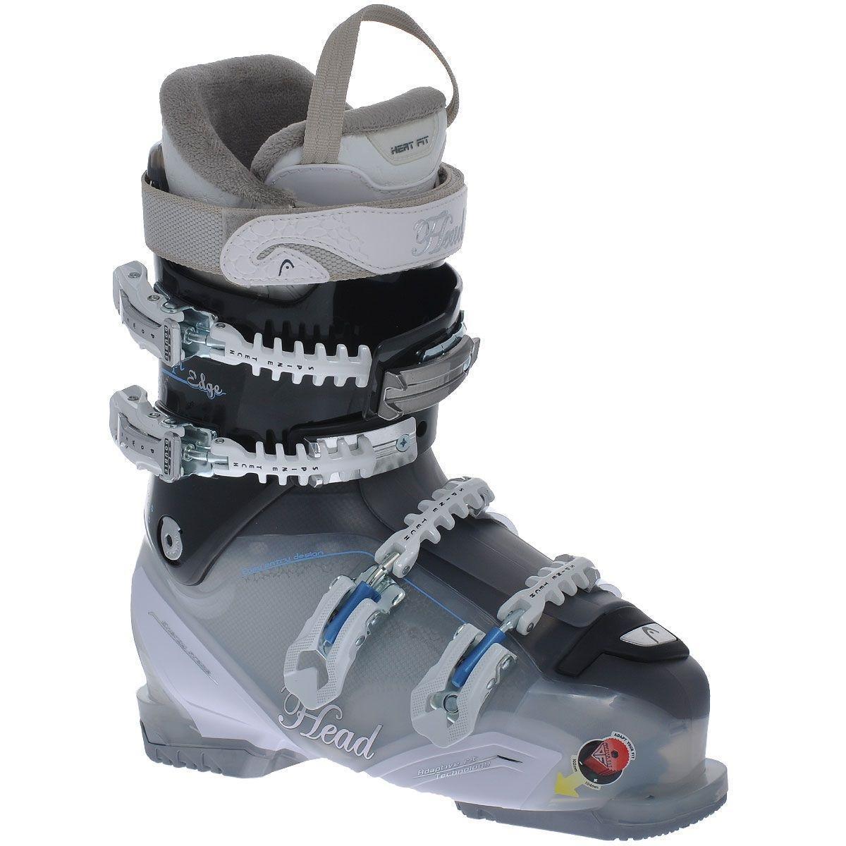 Ботинки горнолыжные женские HEAD Adapt Edge 90X MYA, цвет: полупрозрачный, черный. 602126. ( HEAD Adapt Edge 90X MYA (602126) 36 )