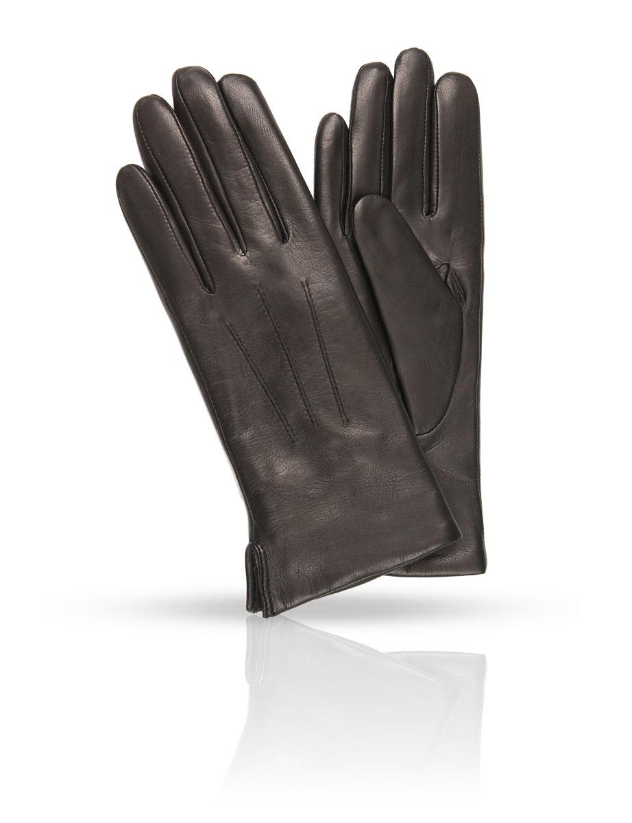 Перчатки женские. 41_ATE41_ATE/BLСтильные женские перчатки Dali Exclusive с подкладкой из 100% мериносового меха выполнены из мягкой и приятной на ощупь натуральной кожи ягненка. С лицевой стороны перчатки оформлены отстрочкой три луча. С тыльной стороны предусмотрена сборка на резинку для наилучшего прилегания к запястью. Такие перчатки подчеркнут ваш стиль и неповторимость и придадут всему образу нотки женственности и элегантности.