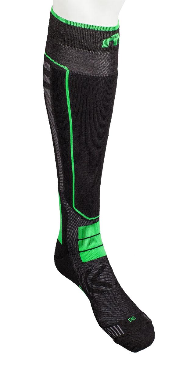 Носки горнолыжные0246- Носок имеет двойную структуру: внутренний слой состоит из полипропилена Micotex. - Волокна полиамида дают добавляют носку прочности и эластичности. - Лайкра повышает эластичность носка и сохраняет форму. - Дополнительная защита голени. - Мягкая резинка по верху носка не сжимает ногу и не дает ощущения сдавливания даже при длительном использовании. - Специальное плетение в области стопы фиксирует ногу при занятиях спортом и ходьбе и не дает скользить стопе вперед. Итальянская компания MICO один из ведущих производителей носков и термобелья на Европейском рынке для занятий различными видами спорта. Носки предназначены для занятий различными видами спорта, в том числе для носки в городе в очень холодную погоду.
