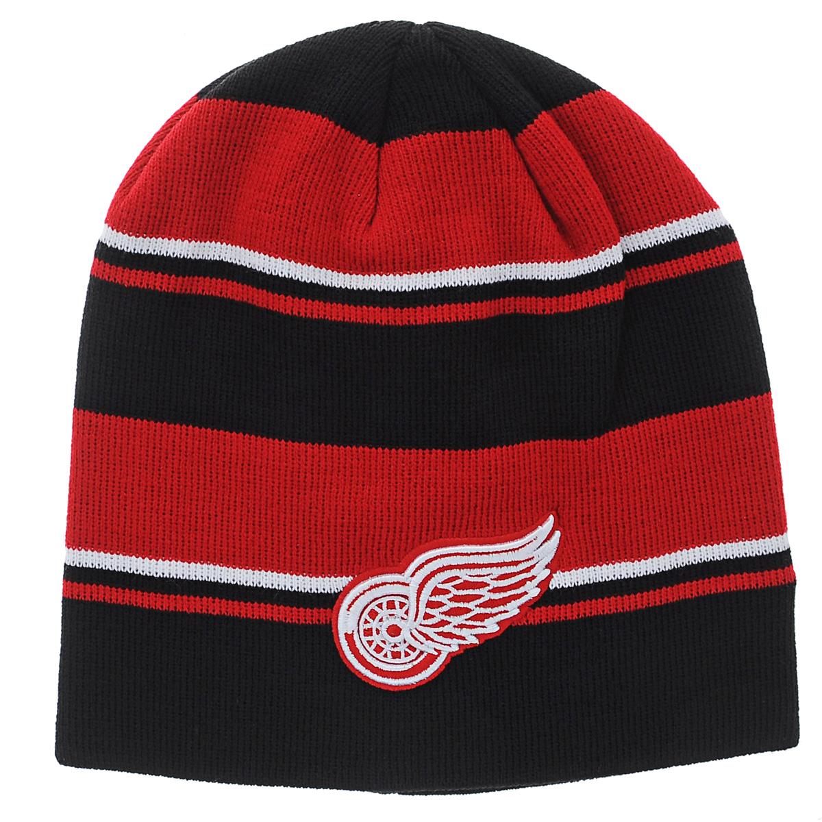 Шапка мужская Red Wings. 5901459014Мужская шапка NHL Red Wings, изготовленная из 100% акрила, мягкая и идеально прилегает к голове, хорошо тянется и устойчива к сминанию. Удлиненная двухслойная модель оформлена цветными полосками и украшена рельефной вышивкой. Такая шапка составит идеальный комплект со спортивной верхней одеждой.