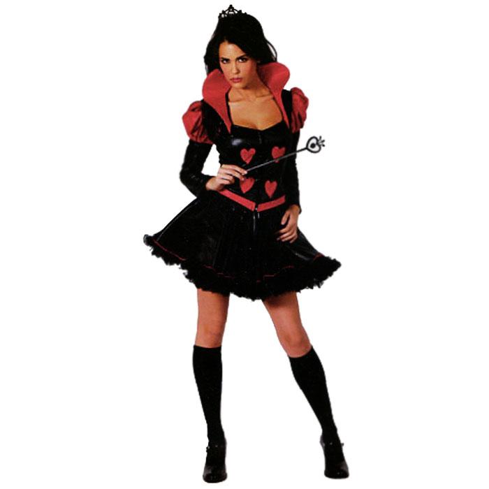 Карнавальный костюм27151У вас намечается маскарад или веселая вечеринка? Маскарадный костюм Червовая королева, выполненный из полиэстера, идеально подойдет для подобного мероприятия. Костюм состоит из платья. Платье с длинными рукавами черно-красного цвета декорировано сердечками. Нижняя юбка выполнена из сетки черного цвета. Костюм привлечет к вам внимание и не оставит незаметной среди остальных героев праздника. В таком костюме веселое настроение и масса положительных эмоций вам будут обеспечены!