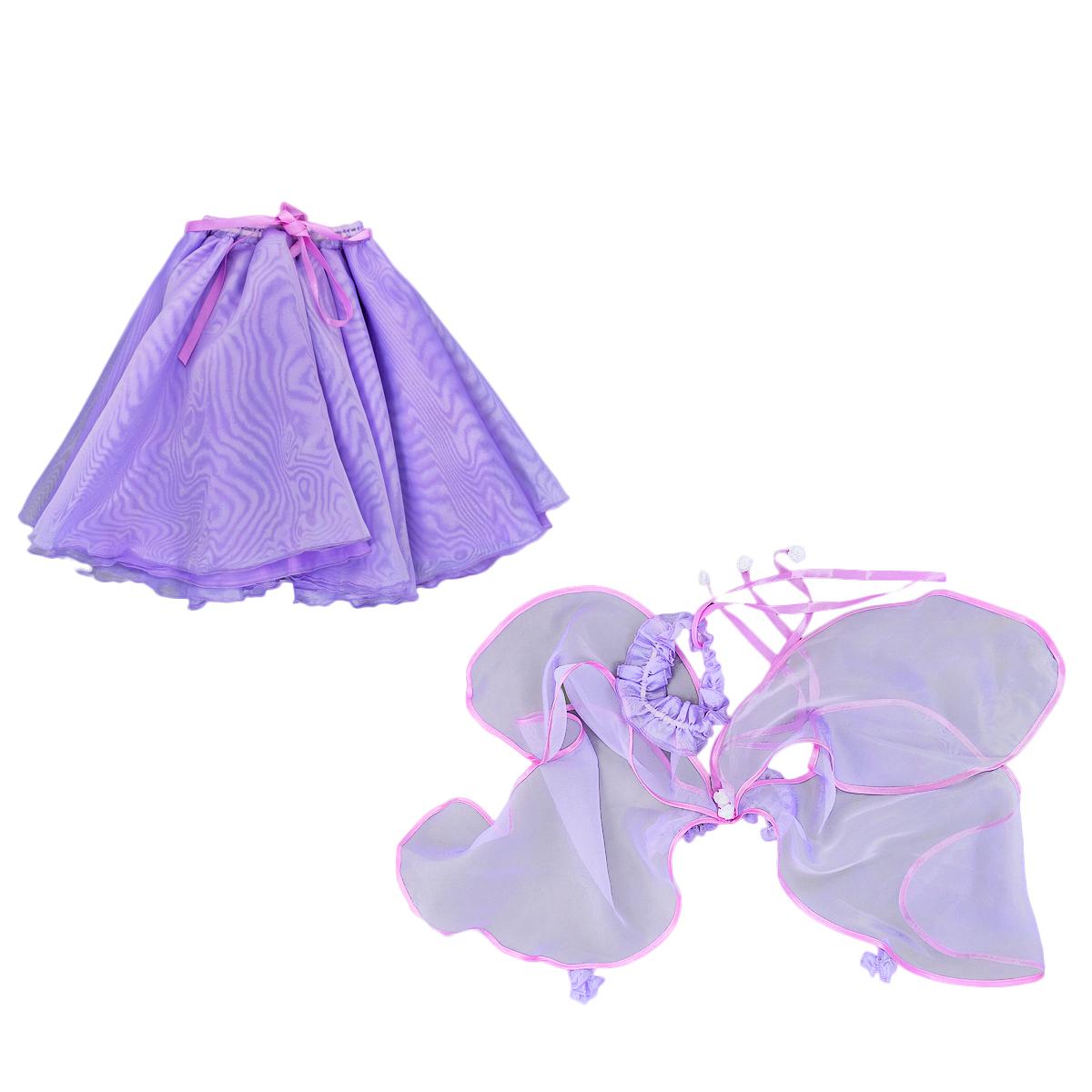 Карнавальный костюм для девочки Бабочка. 102 018102 018Карнавальный костюм для девочки Вестифика Бабочка позволит вашей малышке быть самой красивой девочкой на детском утреннике, бале-маскараде или карнавале. Костюм состоит из юбочки, крыльев и повязки, выполненных из 100% полиэстера. Пышная юбочка на талии имеет широкую эластичную резинку. Изделие дополнено двойным подъюбником и украшено текстильными ленточками, завязывающими в бантик. Текстильные бескаркасные крылышки дополнены эластичными резиночками, одевающимися на ручки, а также маленькими резиночками, одевающимися на запястья. Крылья украшены декоративными цветочками и текстильными ленточками. Дополнит образ очаровательная повязка, присбореннная на эластичную резинку. Повязка оформлена текстильными ленточками, имитирующими рожки. На карнавальной вечеринке ваша дочурка почувствует себя настоящей бабочкой! Такой карнавальный костюм привлечет внимание друзей вашего ребенка и подчеркнет его индивидуальность. Веселое настроение и масса положительных эмоций...