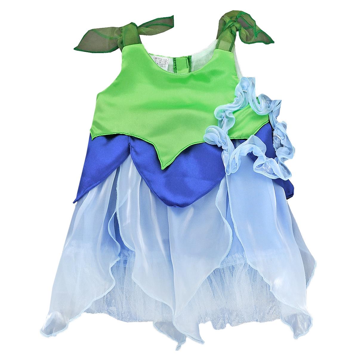 Карнавальный костюм для девочки Колокольчик. 102 002102 002Яркий детский карнавальный костюм Вестифика Колокольчик позволит вашей малышке быть самой красивой девочкой на детском утреннике, бале-маскараде или карнавале. Костюм состоит из платья и повязки на голову. Нарядное платье, изготовленное из атласного материала с отделкой из органзы, на спинке застегивается на липучки. Рукава выполнены из атласа и органзы в виде лепестков. Подол декорирован широкой оборкой из микросетки. Дополнит образ Колокольчика эластичная повязка на голову, выполненная из полупрозрачного материала. Такой карнавальный костюм привлечет внимание друзей вашего ребенка и подчеркнет его индивидуальность. Веселое настроение и масса положительных эмоций будут обеспечены!
