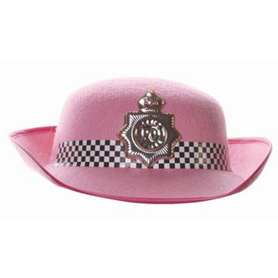 Шляпа карнавальная Офицер полиции. 2686326863Карнавальная шляпа Офицер полиции выполнена из фетра и декорирована наклейкой черно-белой шашечки и пластиковым серебристым значком офицера полиции. Шляпа обрамлена каймой розового цвета. Карнавальная шляпа станет завершающим штрихом в создании праздничного образа.