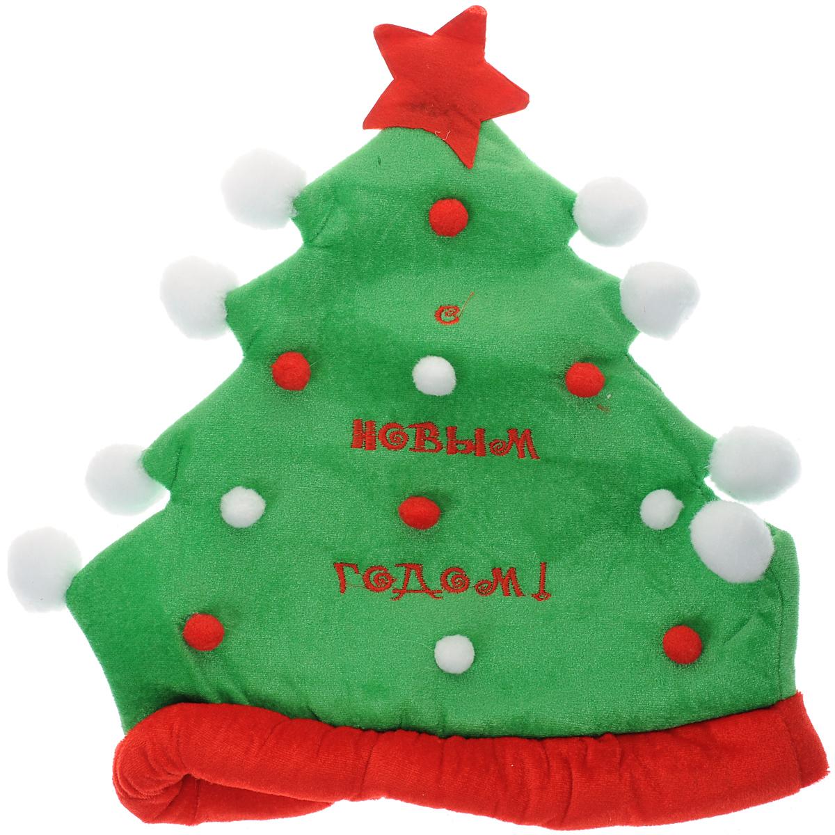 Карнавальный костюм318691Карнавальная шляпа Sima-land Елочка выполнена из текстиля в виде украшенной елочки со звездой. Шляпа декорирована надписью С Новым годом!. Если у вас намечается веселая вечеринка или маскарад, то такая шляпа легко поможет создать праздничный наряд. Внесите нотку задора и веселья в ваш праздник. Веселое настроение и масса положительных эмоций вам будут обеспечены!