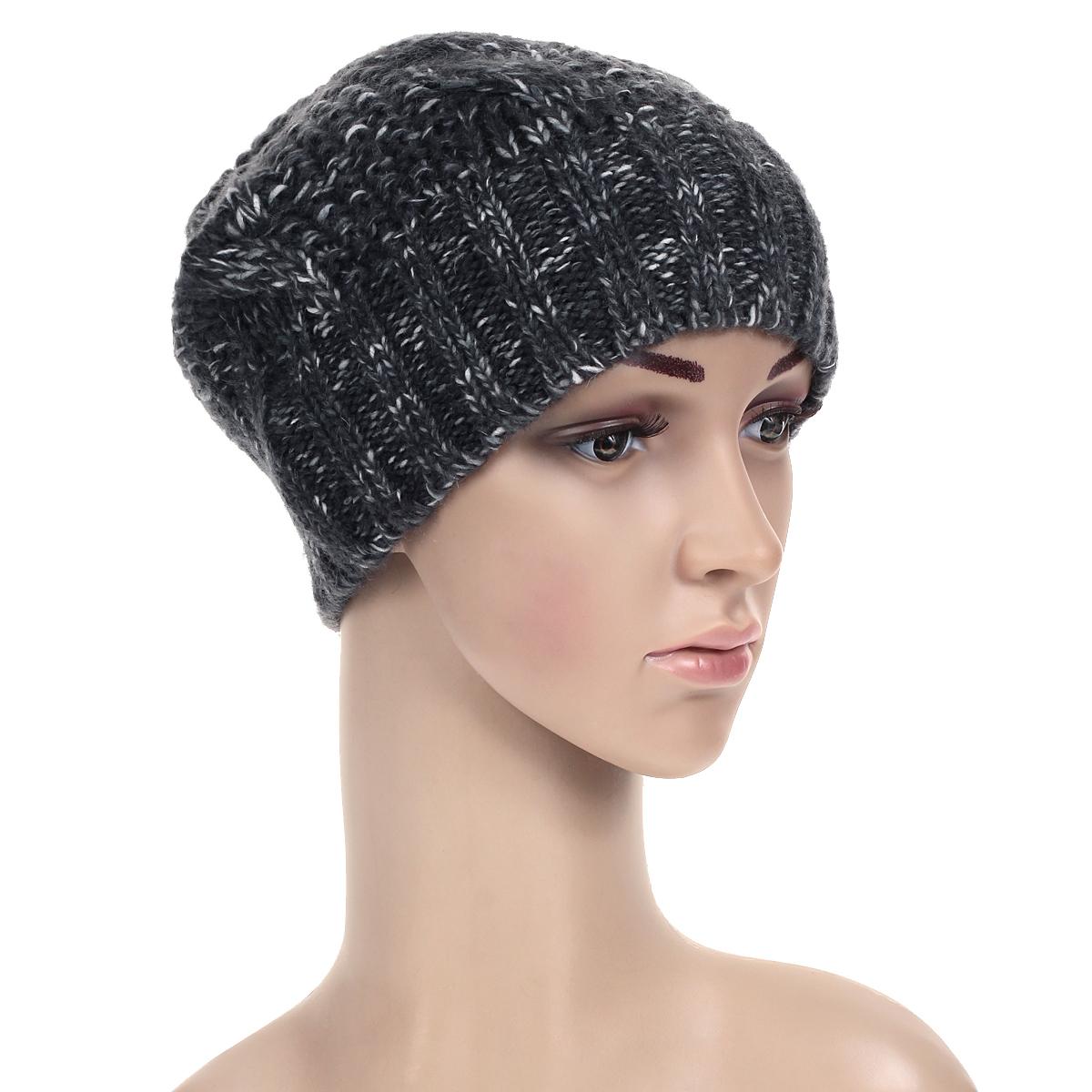 Шапка женская. 42584258Стильная женская шапка Noryalli - теплая модель для холодной погоды. Сочетание различных материалов обеспечивает сохранение тепла и удобную посадку. Шапка выполнена оригинальной вязкой и оформлена кожаной эмблемой с логотипом бренда. Такая шапка - комфортная защита от холода.