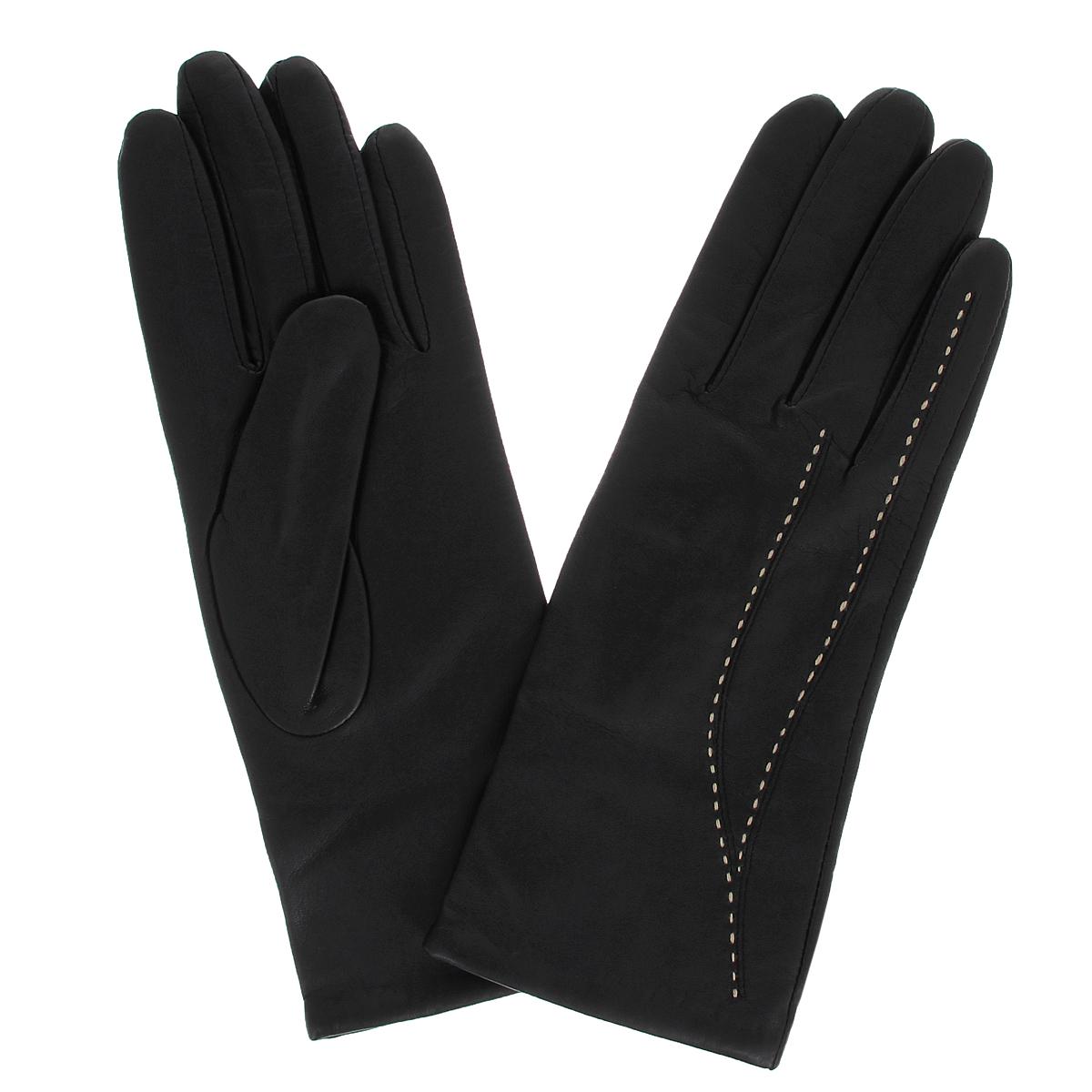Перчатки женские. S1944/40S1944/40Стильные женские перчатки Baggini заинтригуют любого мужчину и заставят завидовать любую женщину. Они не только защитят ваши руки от холода, но и станут великолепным украшением. Модель изготовлена из мягкой натуральной кожи ягненка с подкладкой из акрила. На лицевой стороне изделие оформлено отстрочкой контрастного цвета. Перчатки являются неотъемлемой принадлежностью одежды, вместе с этим аксессуаром вы обретаете женственность и элегантность. Они станут завершающим и подчеркивающим элементом вашего неповторимого стиля и индивидуальности.