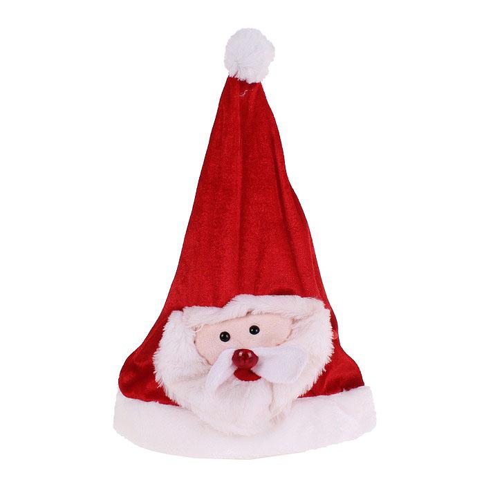 Карнавальный костюм333852Карнавальный колпак Sima-land Дед Мороз выполнен из текстиля в виде Деда Мороза. Особенностью данного колпака является наличие устройства, при включении которого играет новогодняя песня, а нос Деда Мороза начинает мигать. Благодаря специальной липучке размер колпака регулируется. Если у вас намечается веселая вечеринка или маскарад, то такой колпак легко поможет создать праздничный наряд. Внесите нотку задора и веселья в ваш праздник. Веселое настроение и масса положительных эмоций вам будут обеспечены! УВАЖАЕМЫЕ КЛИЕНТЫ! Обращаем ваше внимание на тот факт, что батарейки входят в комплект.