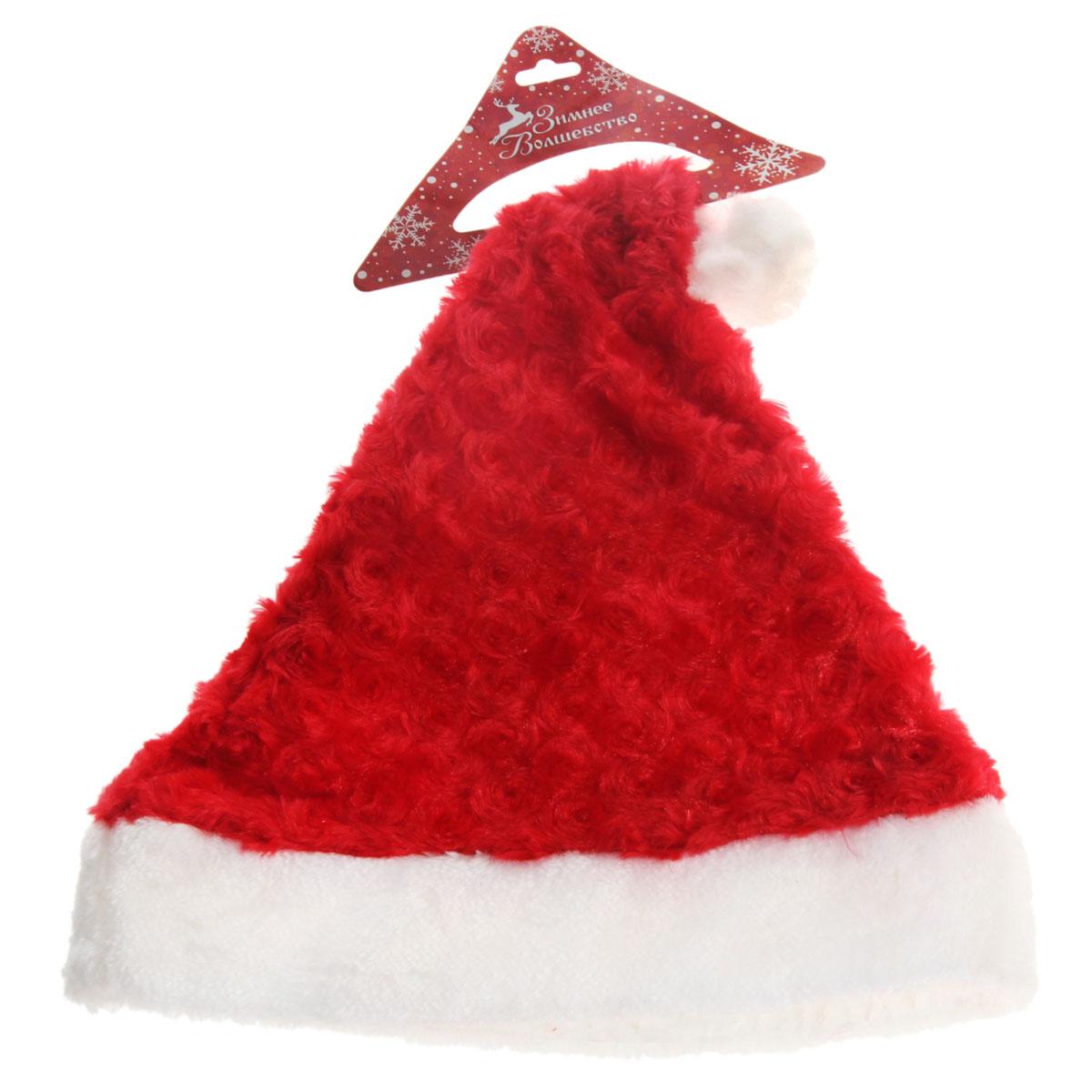 Карнавальный костюм806283Новогодний колпак Sima-land развеселит вас и ваших друзей в праздничную ночь. Колпак выполнен из синтетического текстиля и оформлен симпатичной меховой отделкой и помпоном. Радуйте себя и родных, дарите подарки и хорошее настроение! Откройте для себя удивительный мир сказок и грез. Почувствуйте волшебные минуты ожидания праздника, создайте новогоднее настроение вашим дорогим и близким.
