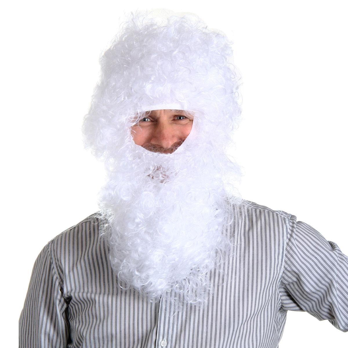 Маскарадная борода и парик Sima-land Дед Мороз. 301722301722Маскарадная борода и парик Sima-land Дед Мороз выполнены из искусственных волос. Надев такую бороду с париком, вы будете выглядеть как настоящий Дед Мороз. Борода имеет прорезь для рта. Если у вас намечается веселая вечеринка или маскарад, то такие аксессуары легко помогут создать праздничный образ. Внесите нотку задора и веселья в ваш праздник. Веселое настроение и масса положительных эмоций вам будут обеспечены!