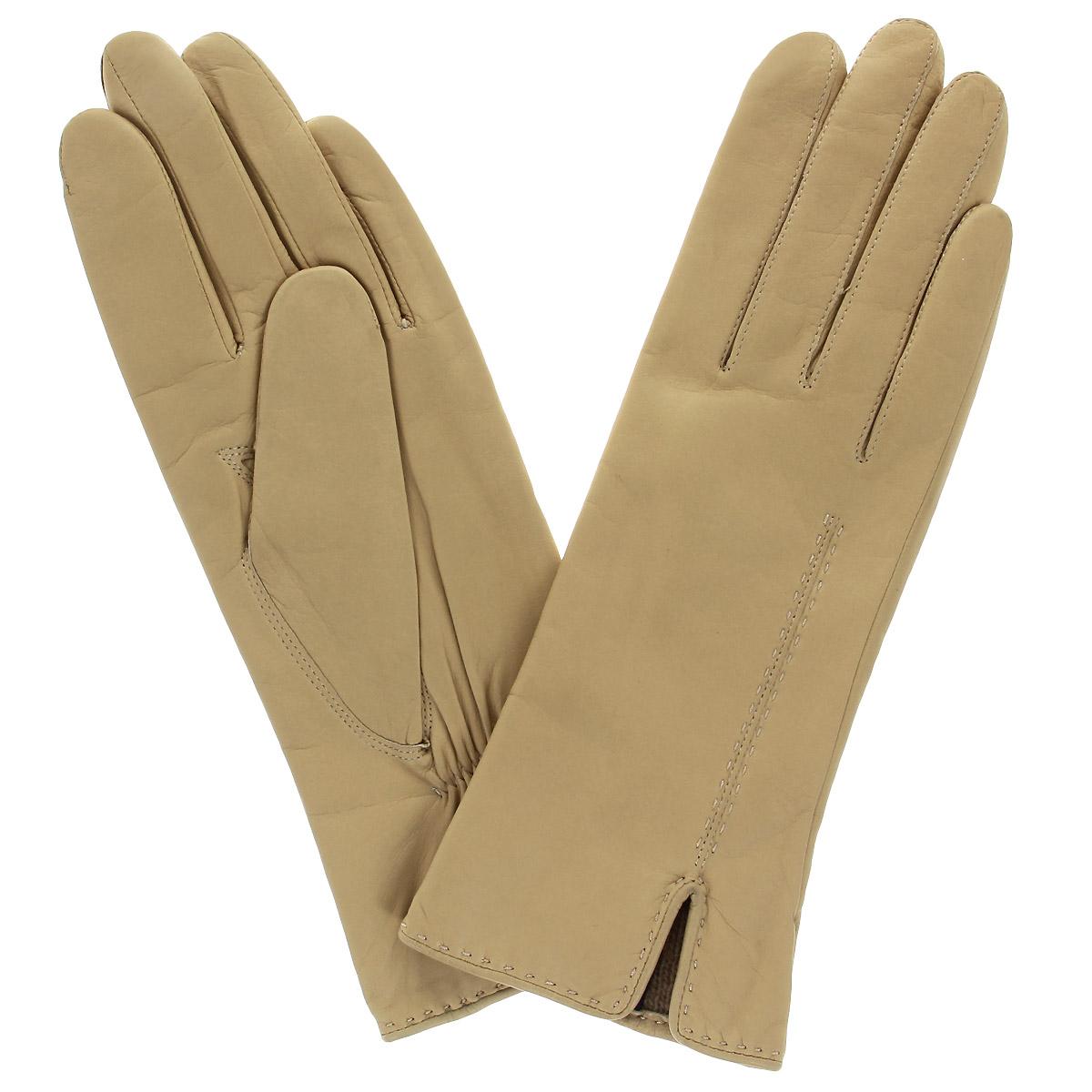 13_ALINA/MAGEСтильные перчатки Dali Exclusive с подкладкой из шерсти выполнены из мягкой и приятной на ощупь натуральной кожи ягненка. Лицевая сторона перчатки оформлена декоративным швом и дополнена небольшим разрезом. Такие перчатки подчеркнут ваш стиль и неповторимость и придадут всему образу нотки женственности и элегантности.