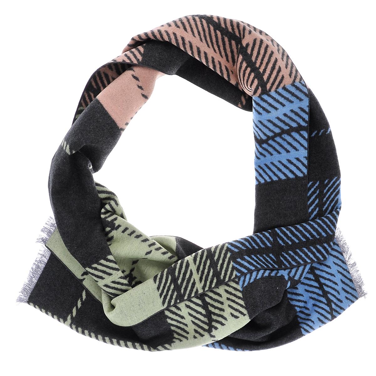 Шарф90005-08GЭлегантный мужской шарф Moltini согреет в холодное время года, а также станет изысканным аксессуаром, который призван подчеркнуть ваш стиль и индивидуальность. Ворсистый теплый шарф выполнен на основе из 100% шелка и оформлен оригинальным принтом. Края модели декорированы тонкой бахромой.
