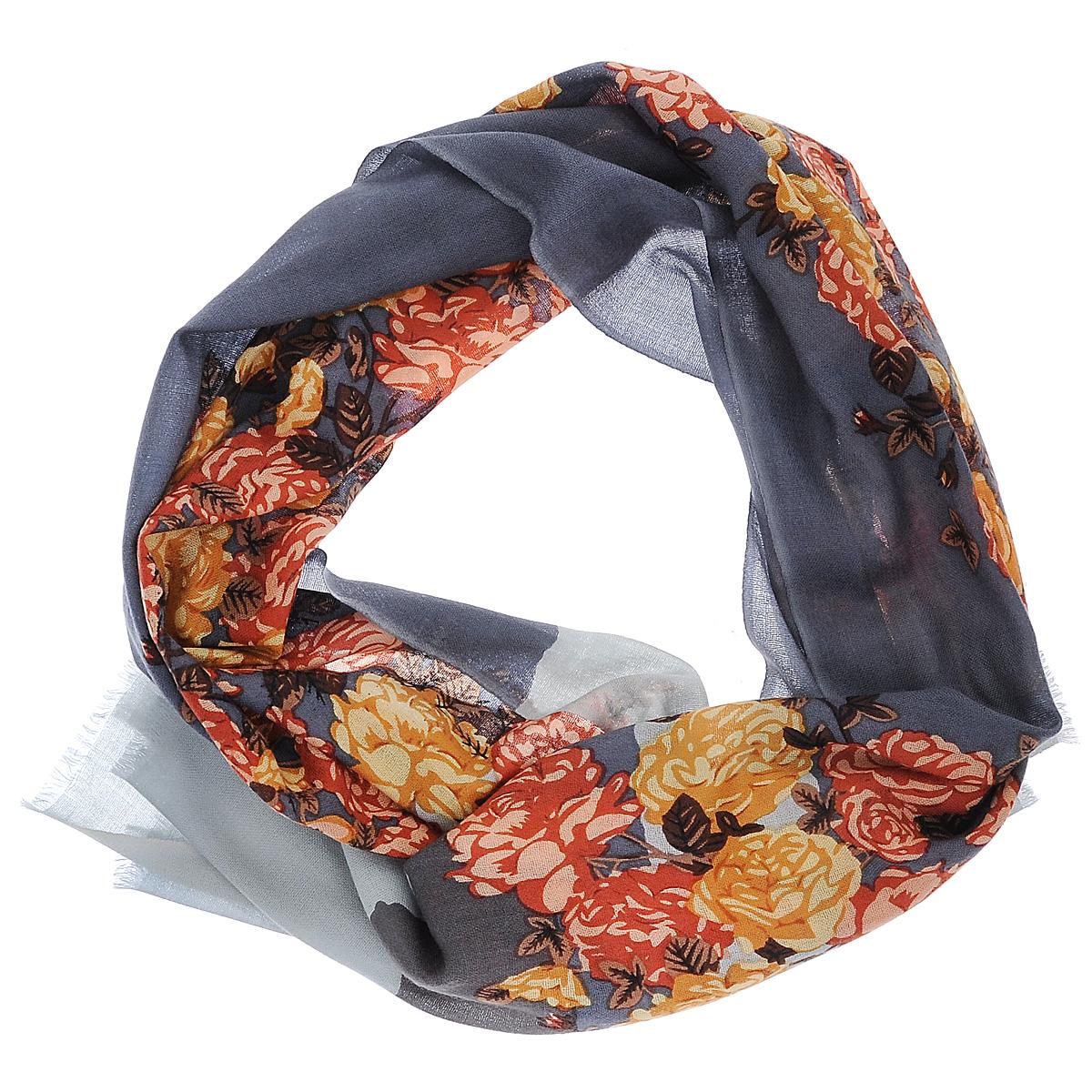 Палантин35007-02GЭлегантный палантин Moltini подчеркнет ваш неповторимый образ. Он выполнен из мягкой натуральной шерсти и оформлен ярким цветочным принтом. Края палантина декорированы тонкой бахромой. Этот модный аксессуар женского гардероба гармонично дополнит образ современной женщины, следящей за своим имиджем и стремящейся всегда оставаться стильной и элегантной. В этом палантине вы всегда будете выглядеть женственной и привлекательной.