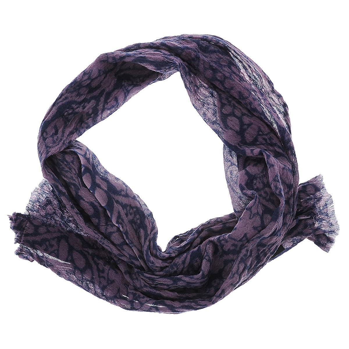 35001-02IЭлегантный женский шарф Moltini подчеркнет ваш неповторимый образ. Модель жатой фактуры выполнена из мягкой натуральной шерсти и оформлена оригинальным узором. Края шарфа декорированы тонкой бахромой. Этот модный аксессуар женского гардероба гармонично дополнит образ современной женщины, следящей за своим имиджем и стремящейся всегда оставаться стильной и женственной.