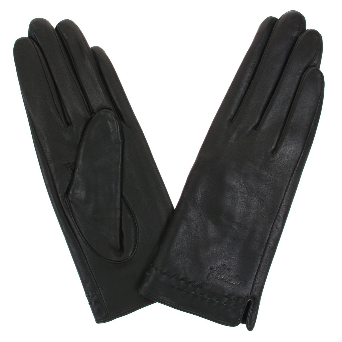 Перчатки женские. L-14L-14Стильные женские перчатки Falner заинтригуют любого мужчину и заставят завидовать любую женщину. Они не только защитят ваши руки от холода, но и станут великолепным украшением. Модель изготовлена из мягкой натуральной кожи с флисовой подкладкой. На лицевой стороне изделие оформлено оригинальными стежками и тиснением в виде названия бренда. На внешнем боку имеется небольшой разрез. Перчатки являются неотъемлемой принадлежностью одежды, вместе с этим аксессуаром вы обретаете женственность и элегантность. Они станут завершающим и подчеркивающим элементом вашего неповторимого стиля и индивидуальности.