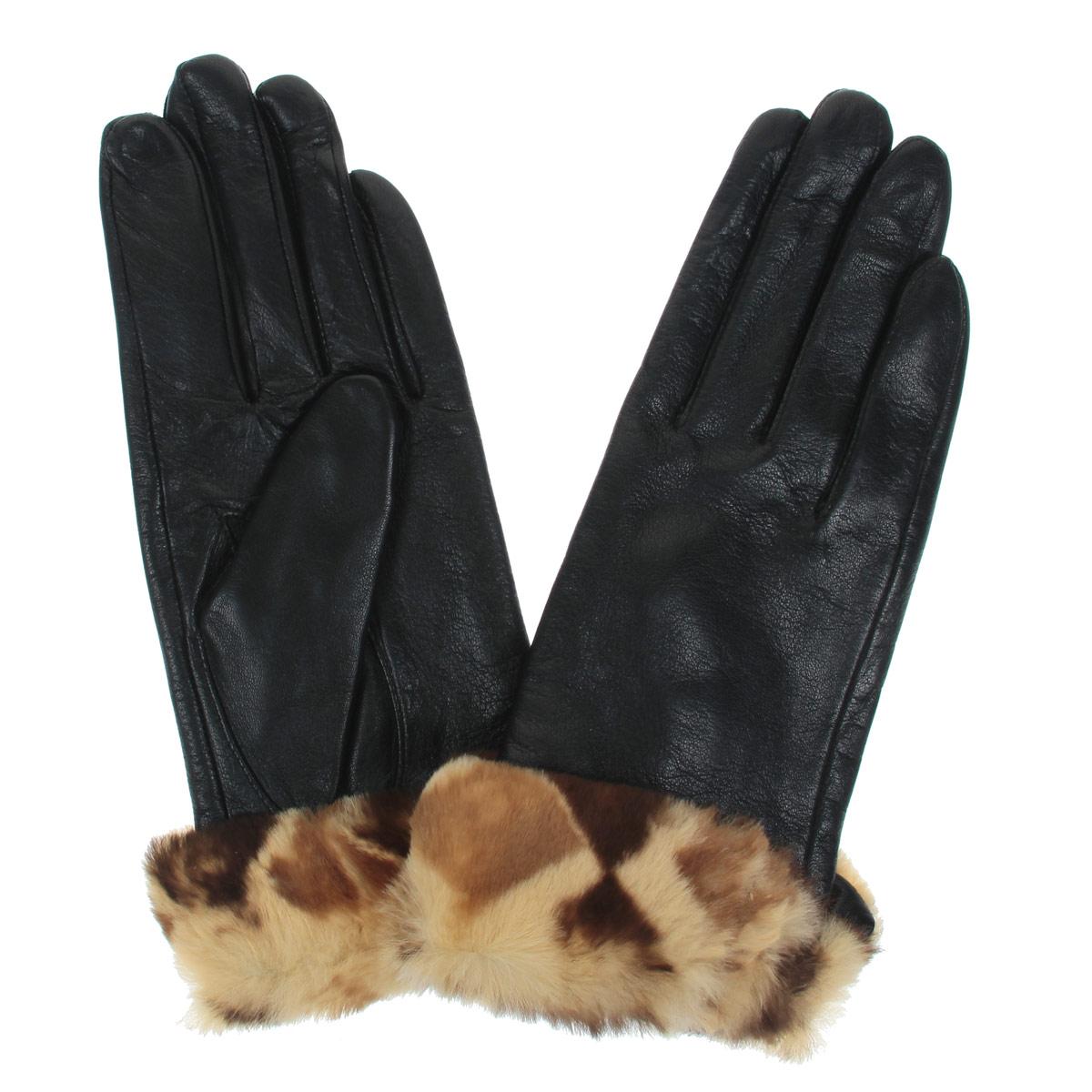 Перчатки женские. L-20L-20Стильные женские перчатки Falner заинтригуют любого мужчину и заставят завидовать любую женщину. Они не только защитят ваши руки от холода, но и станут великолепным украшением. Модель изготовлена из мягкой натуральной кожи с флисовой подкладкой. Изделие оформлено отворотом, декорированным мехом кролика. На внешнем боку имеется небольшой разрез. Перчатки являются неотъемлемой принадлежностью одежды, вместе с этим аксессуаром вы обретаете женственность и элегантность. Они станут завершающим и подчеркивающим элементом вашего неповторимого стиля и индивидуальности.